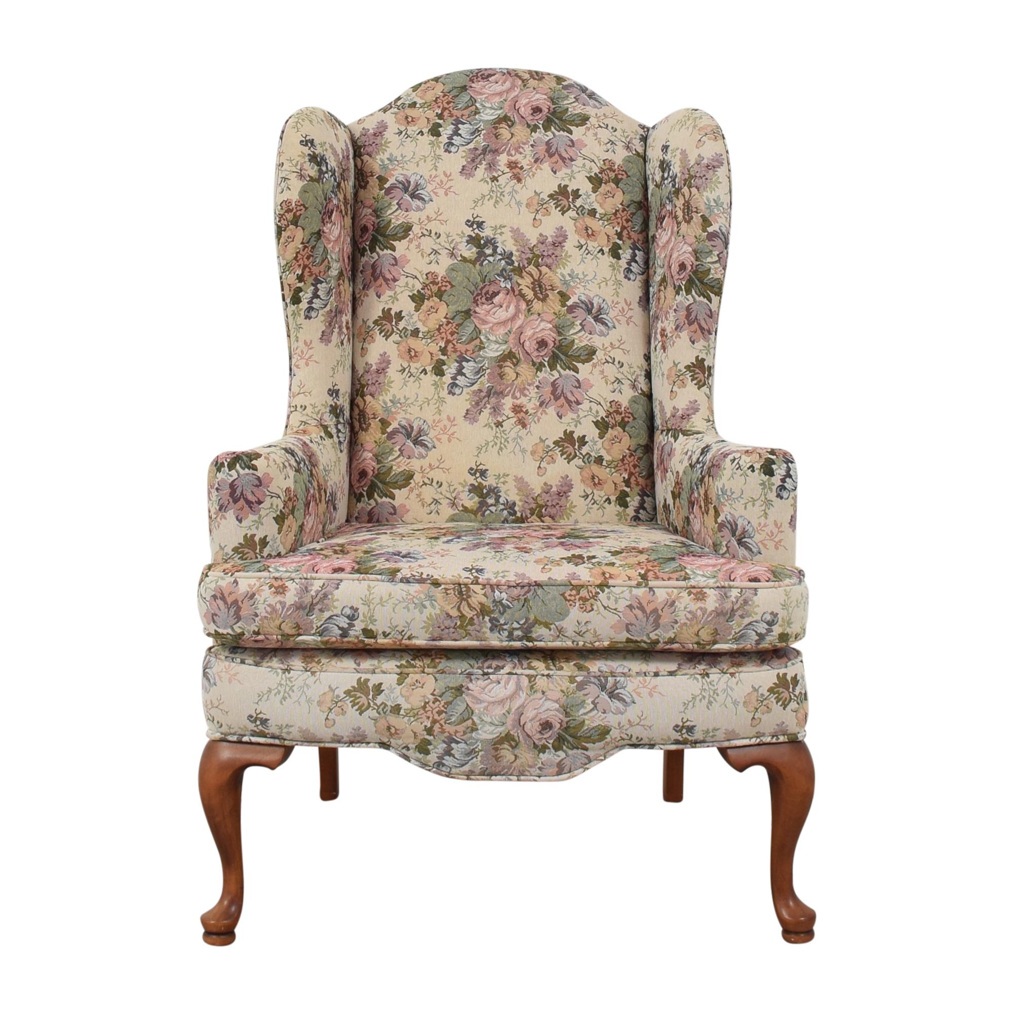 shop Ethan Allen Floral Wing Chair Ethan Allen Chairs