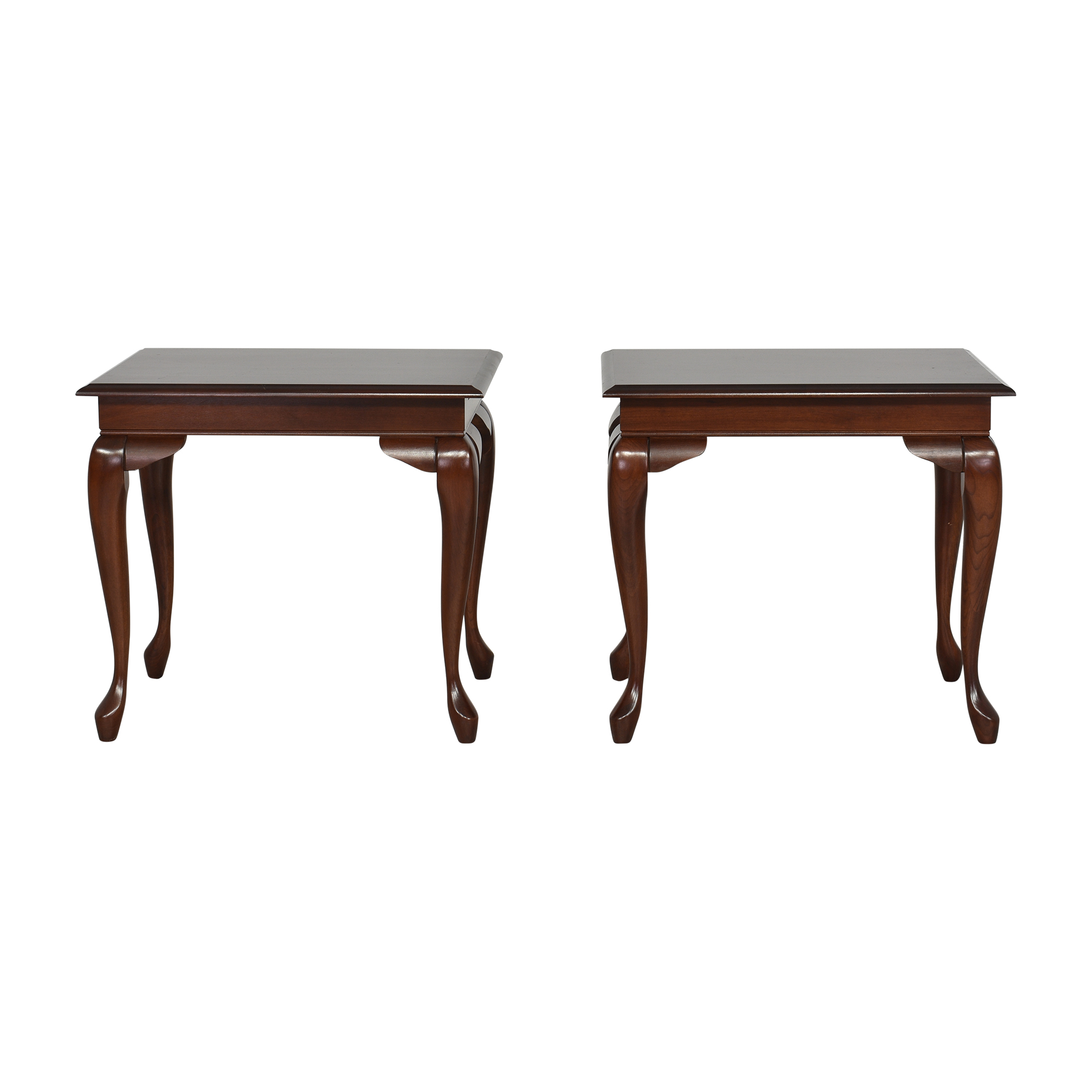 Queen Anne End Tables with Desk Extensions on sale