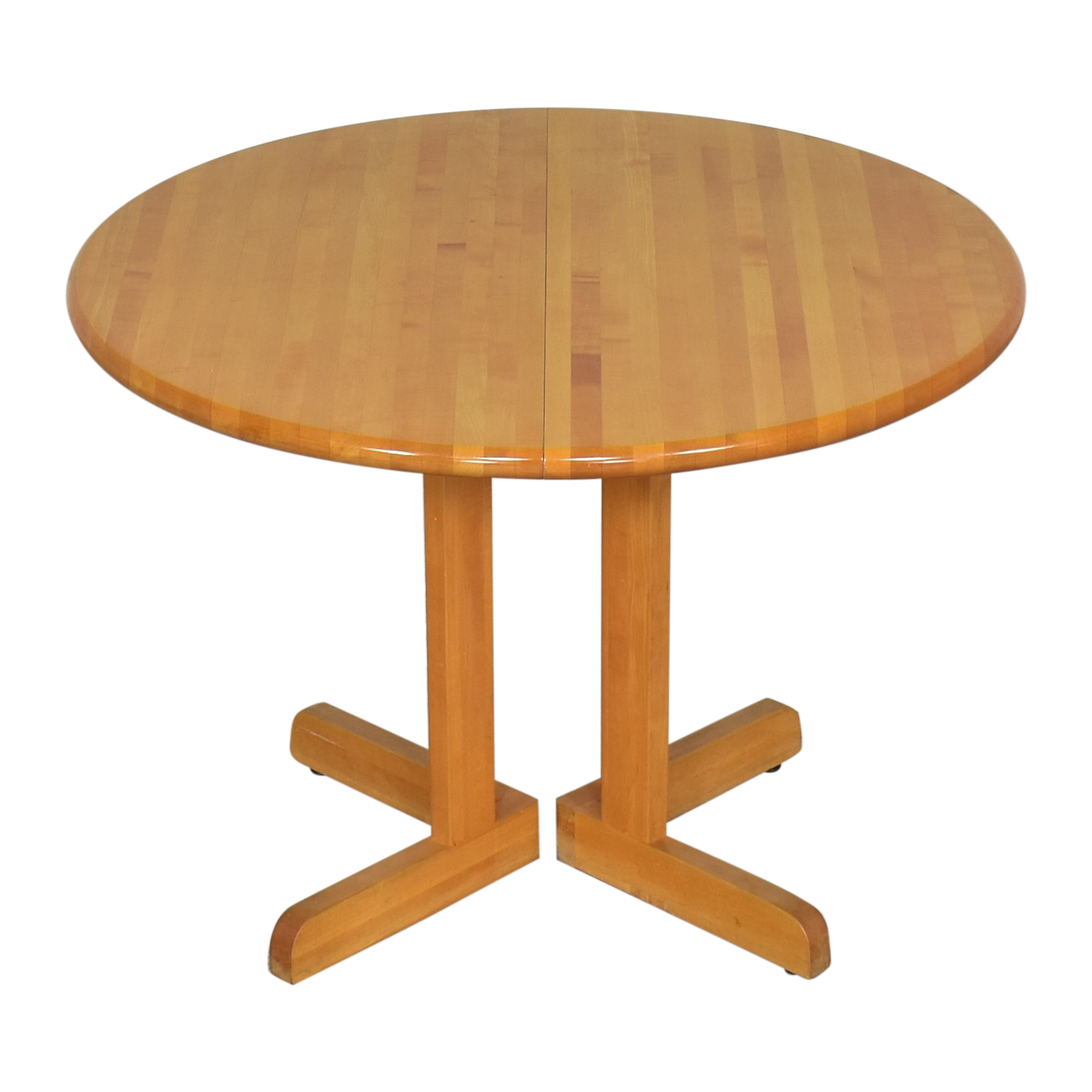 Walter of Wabash Walter of Wabash Round Extendable Dining Table used