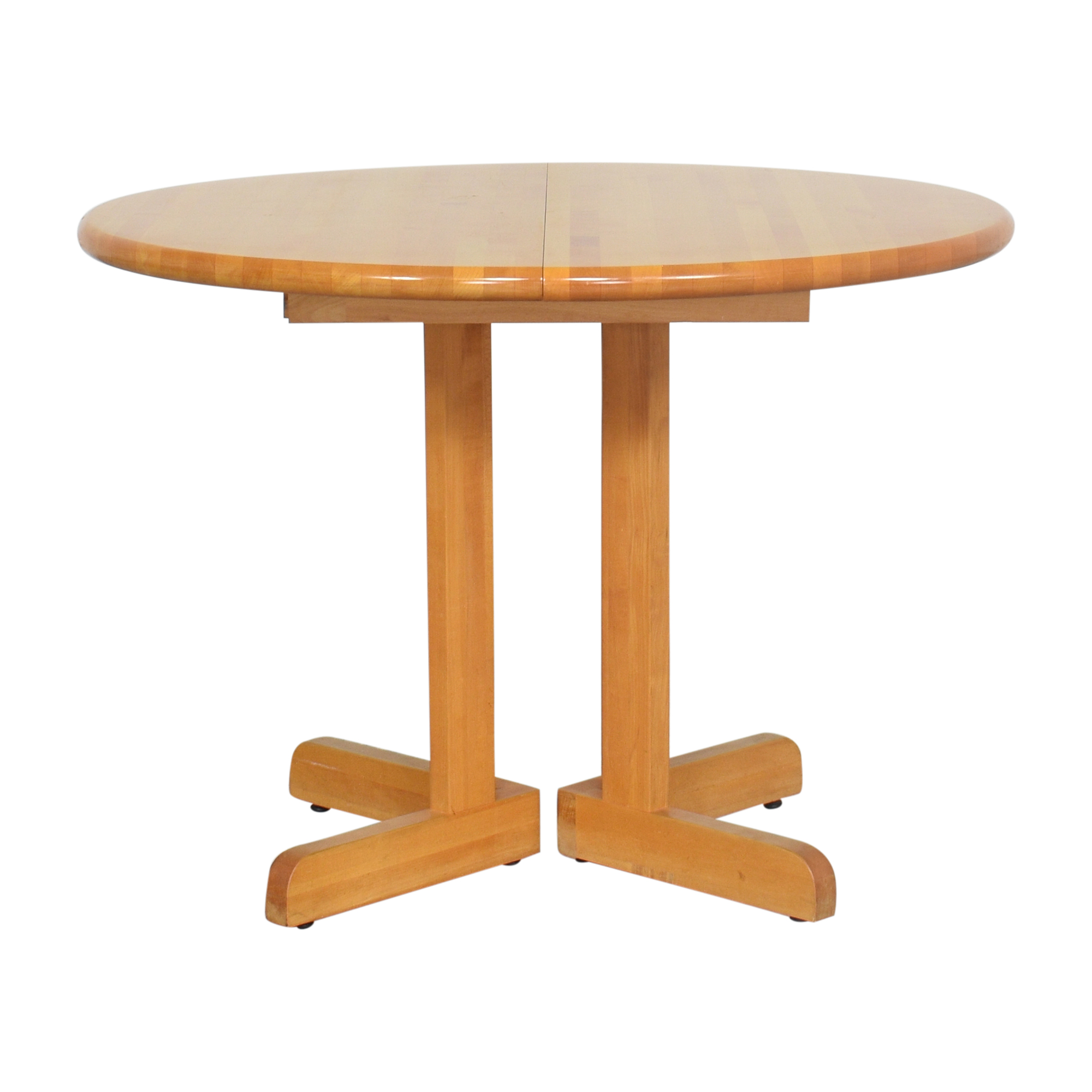 Walter of Wabash Walter of Wabash Round Extendable Dining Table for sale
