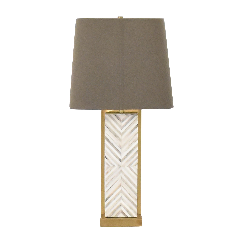 buy West Elm Chevron Deco Table Lamp West Elm Lamps