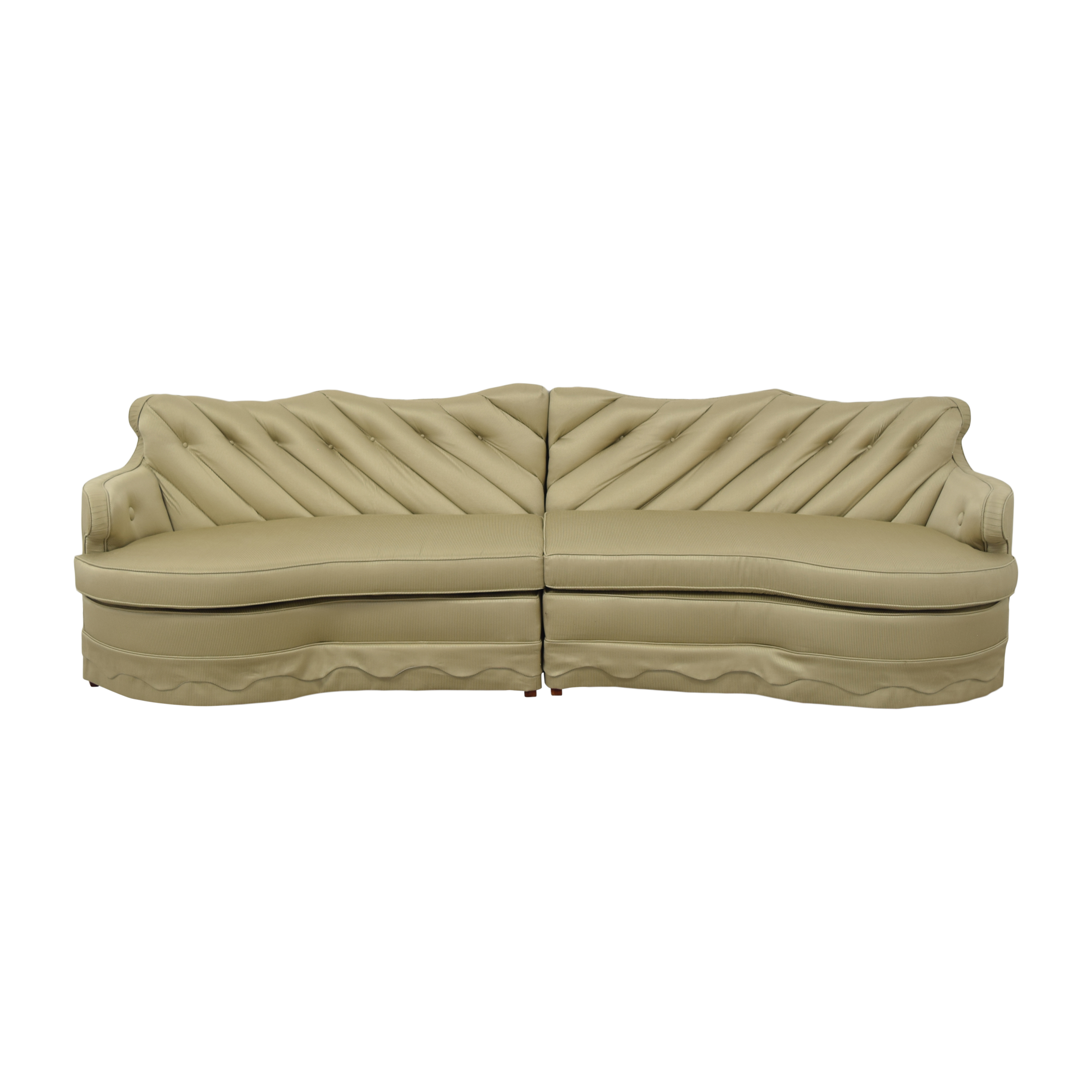 Vintage Curved Sectional Sofa / Sofas