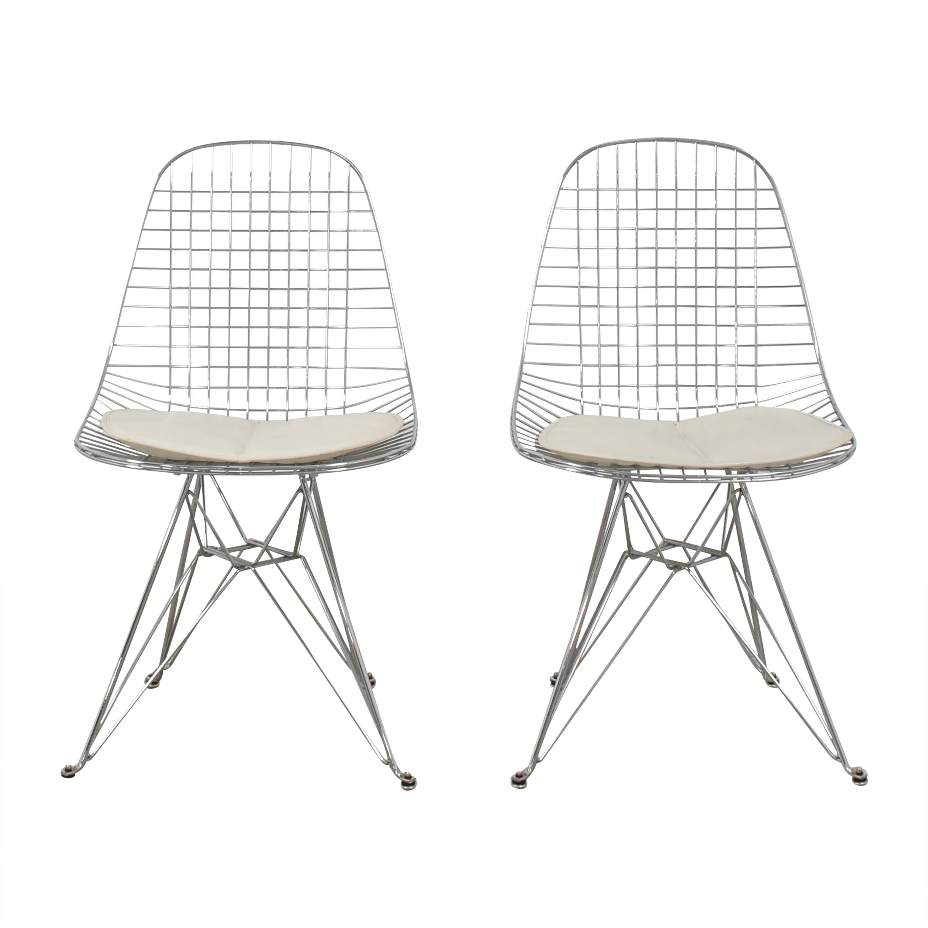 Modernica Modernica Case Study Wire Eiffel Chairs with Seat Pads second hand