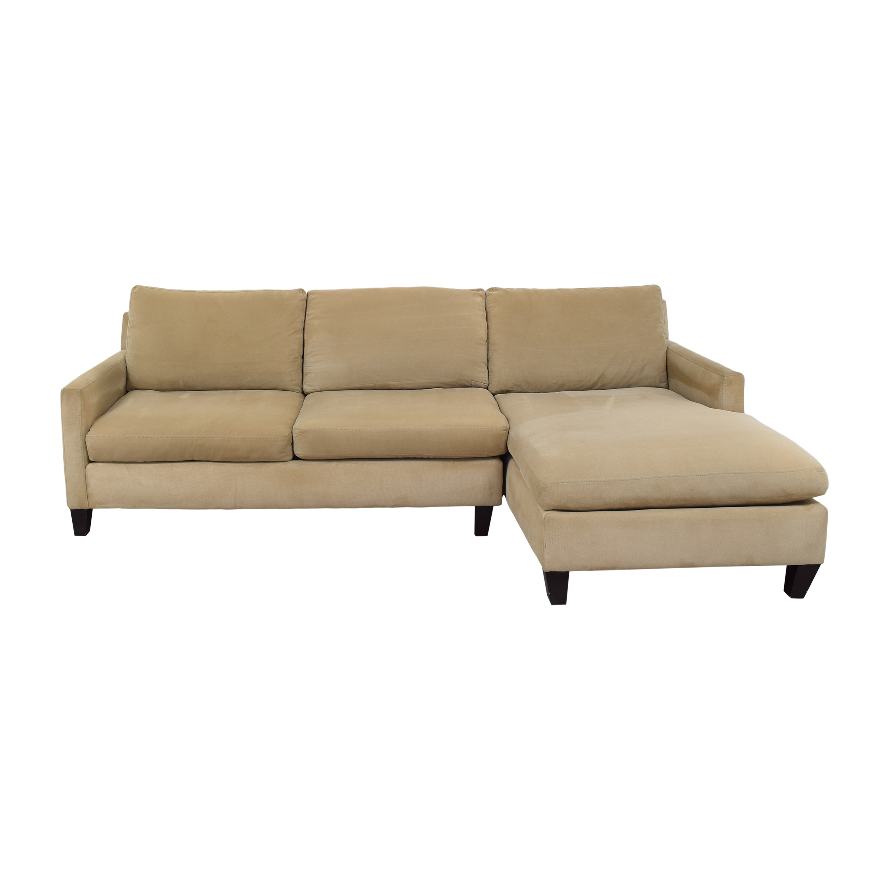 Z Gallerie Alcantara Sectional Sofa with Chaise sale
