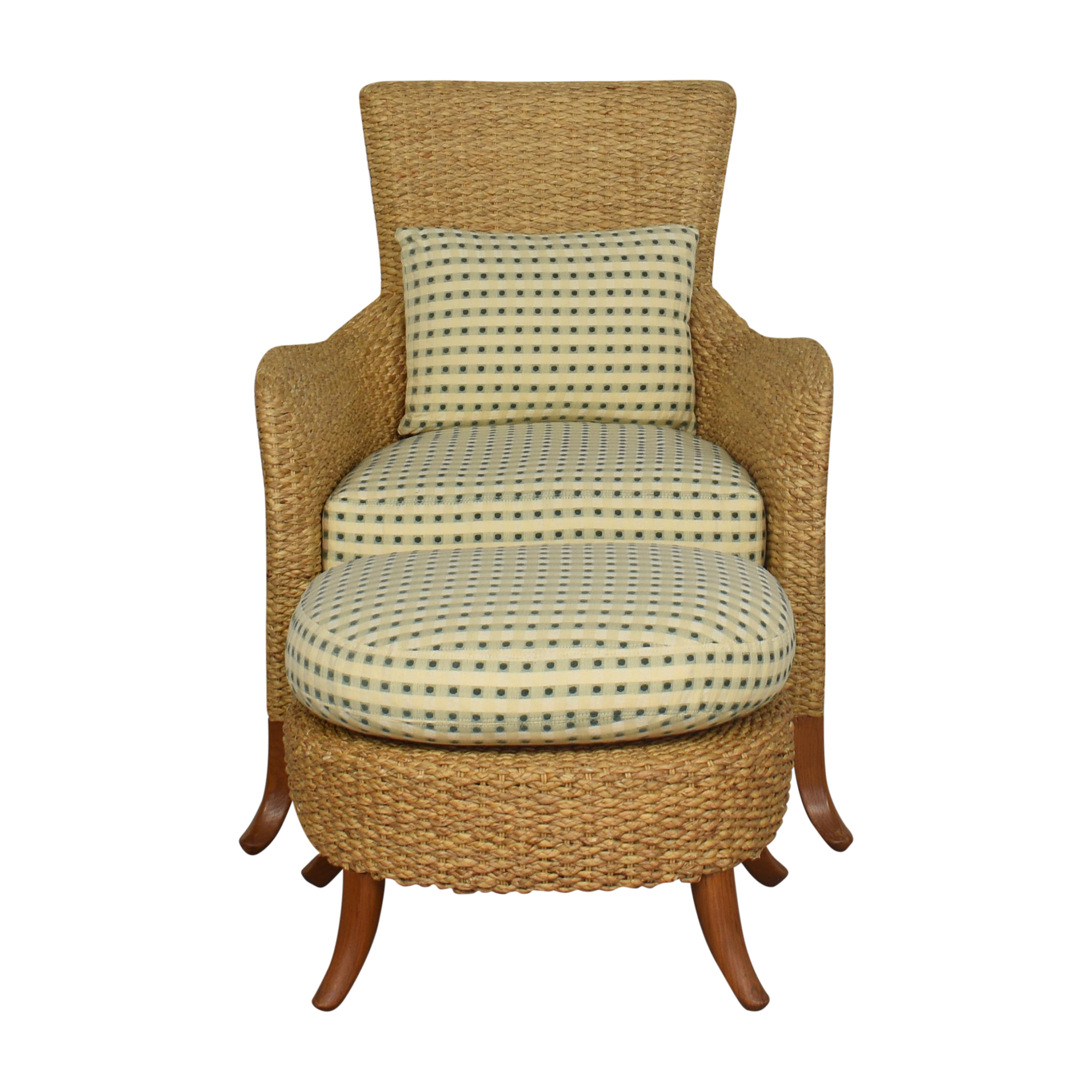 Century Furniture Century Furniture Woven Chair with Ottoman used