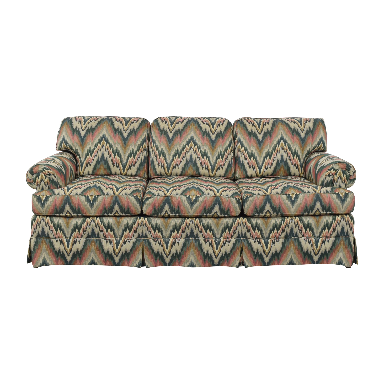 Wesley Hall Wesley Hall Skirted Three Cushion Sofa nyc