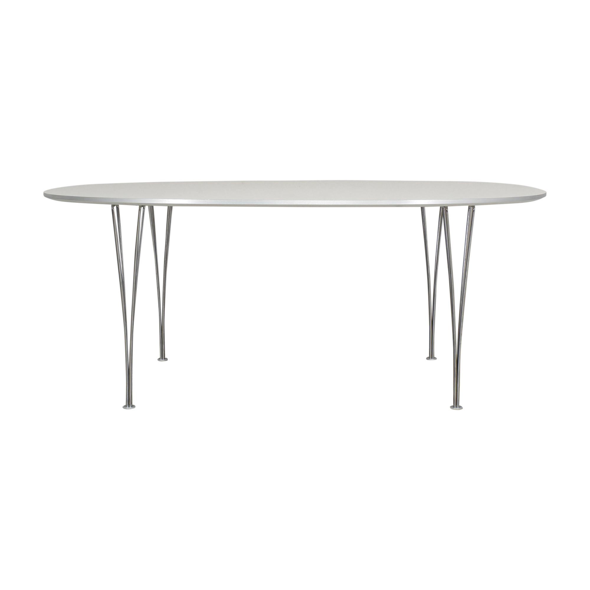 buy Fritz Hansen Super-Elliptical Table by Piet Hein Fritz Hansen Dinner Tables