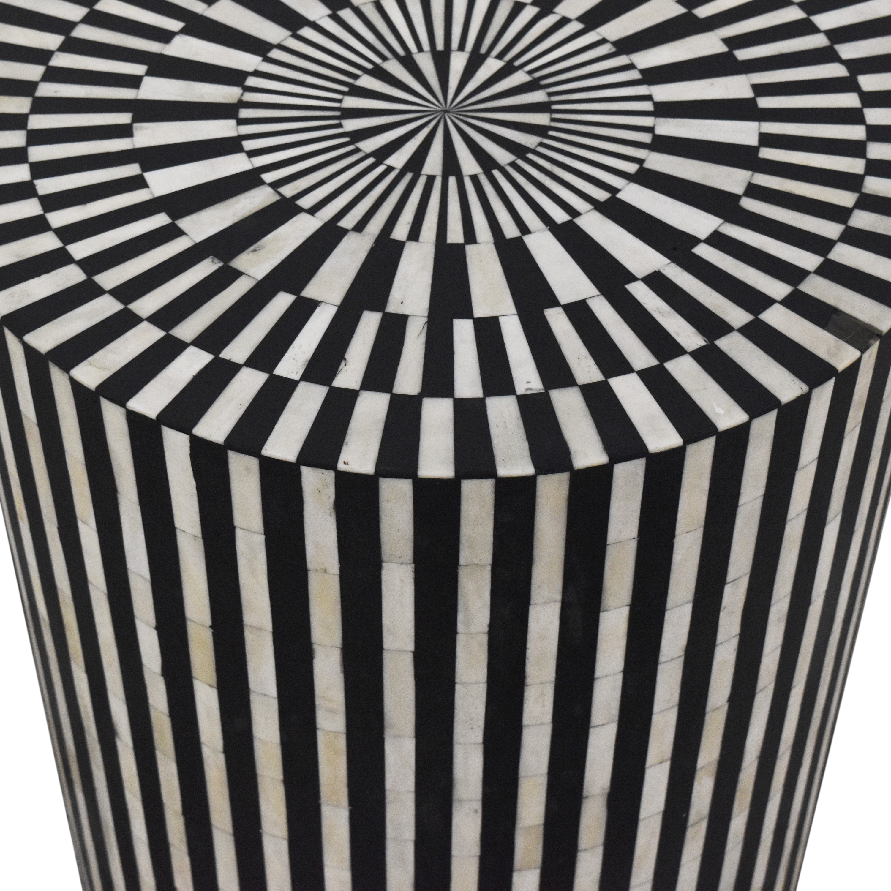 Anthropologie Anthropologie Rounded Inlay Drum Side Table Tables