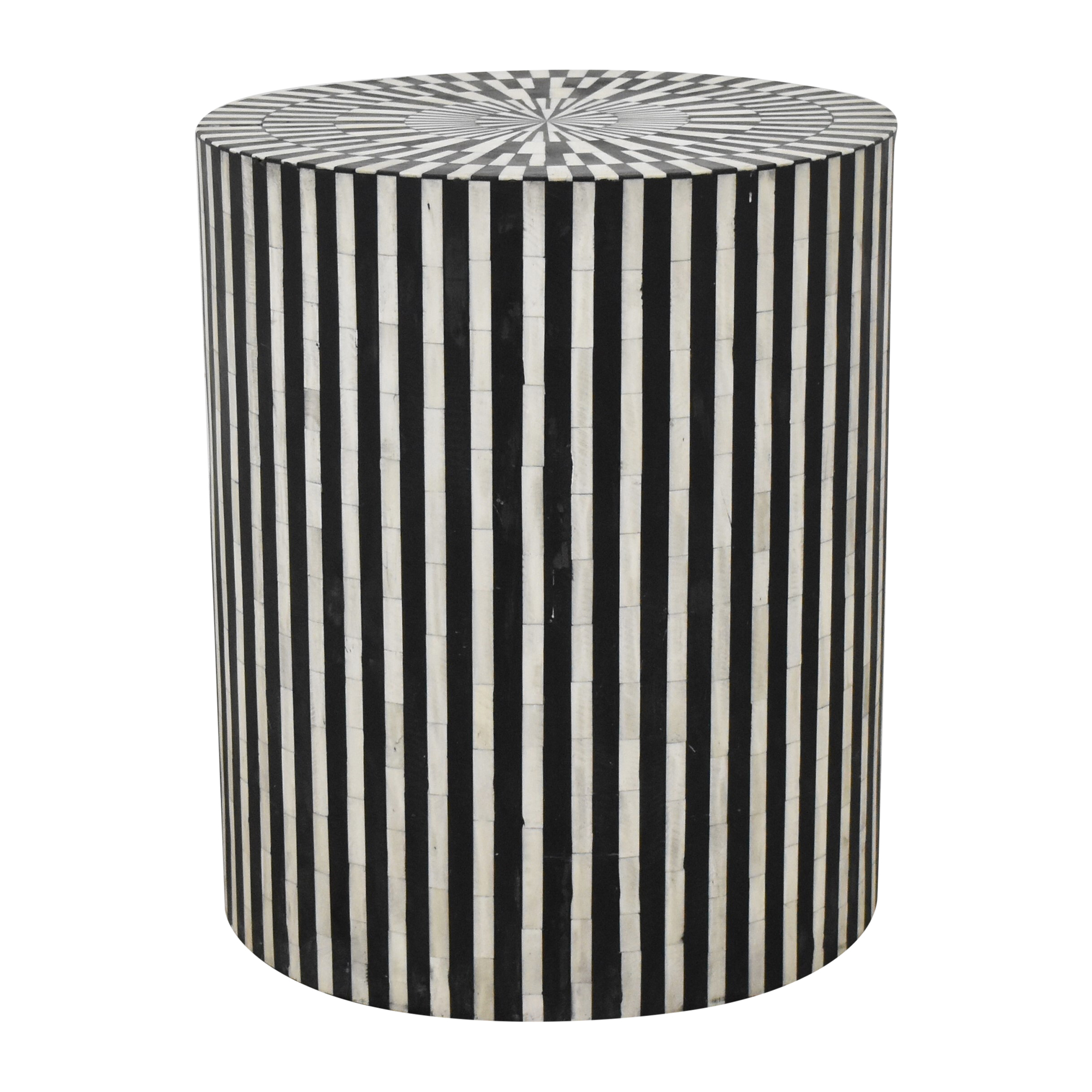Anthropologie Anthropologie Rounded Inlay Side Table pa