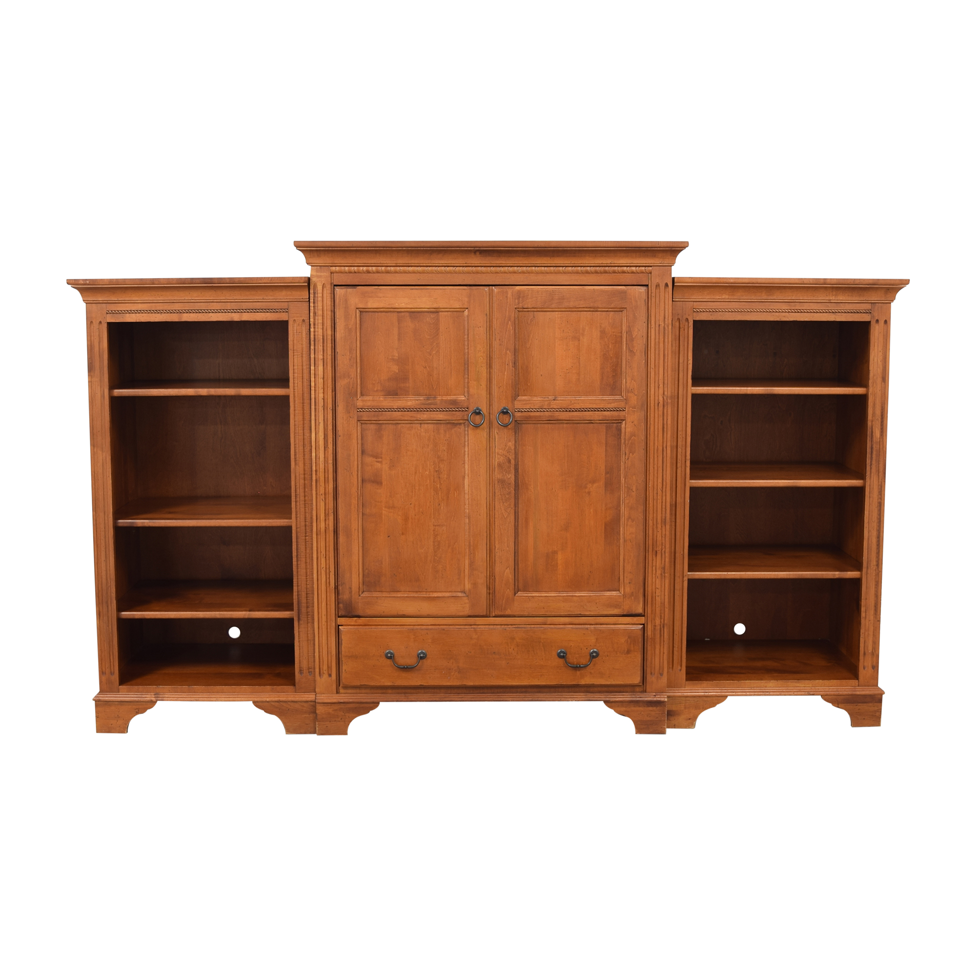 shop Ethan Allen Country Crossings Media Center with Bookcases Ethan Allen
