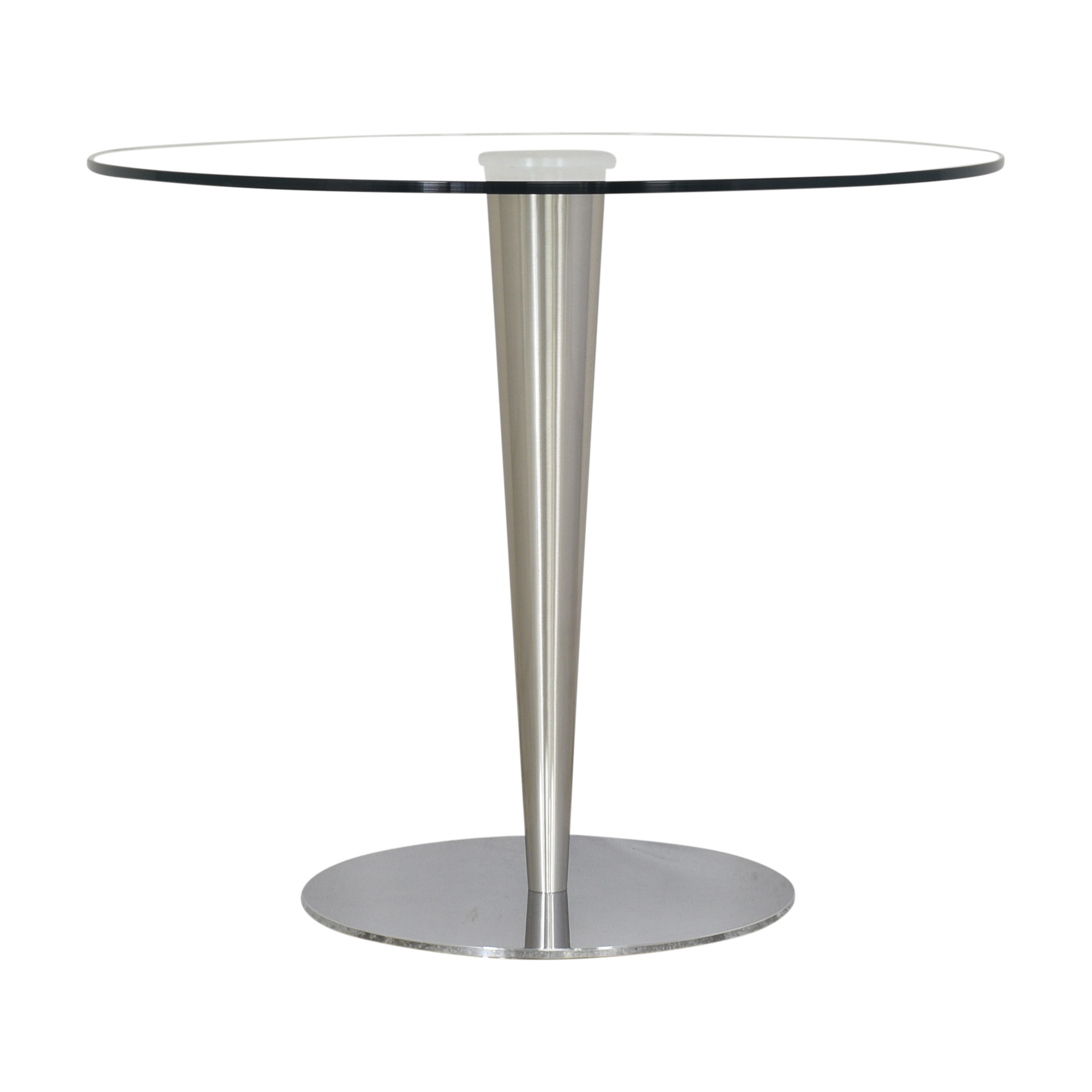 Transparent Round Accent Table nyc