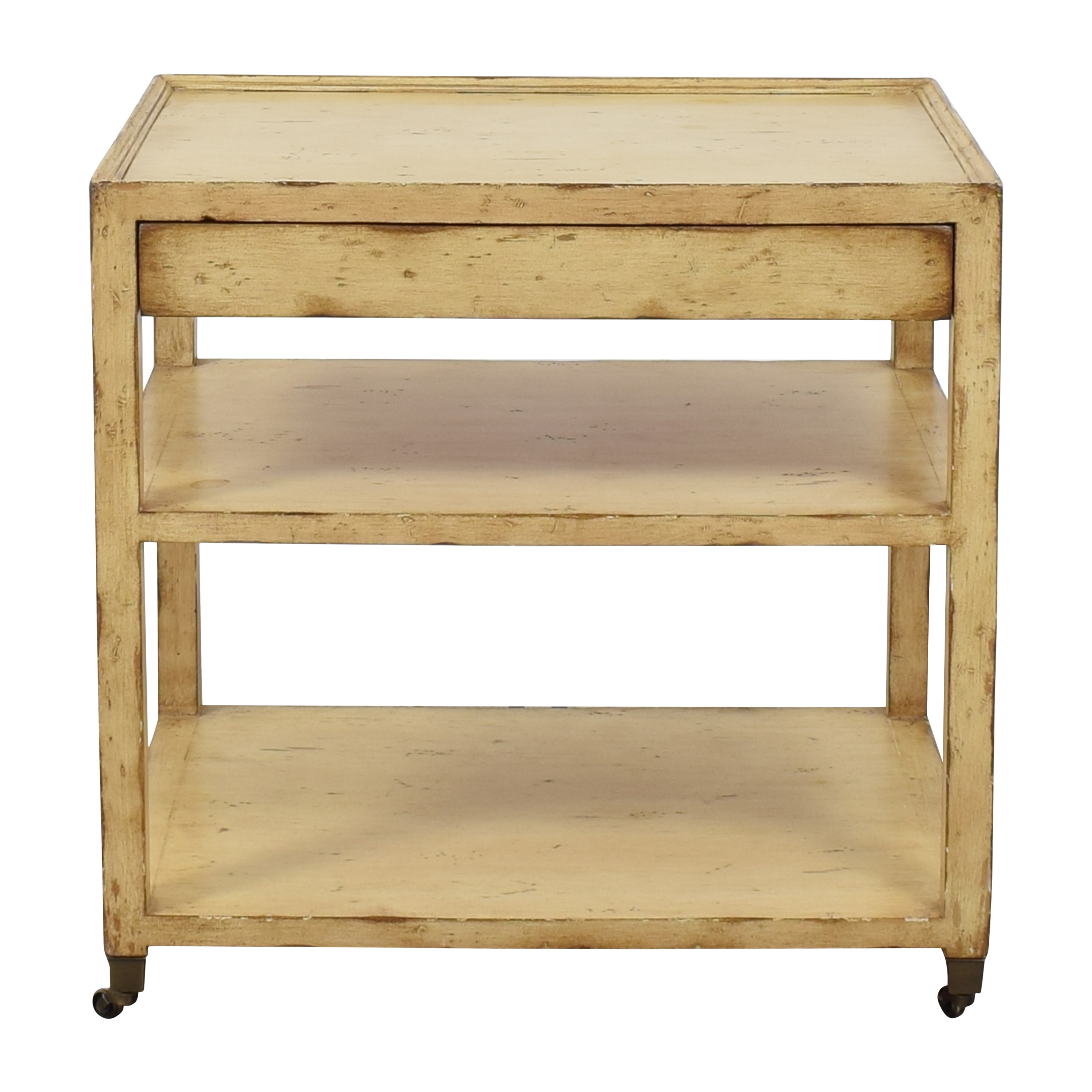 Distressed One Drawer Accent Table ma