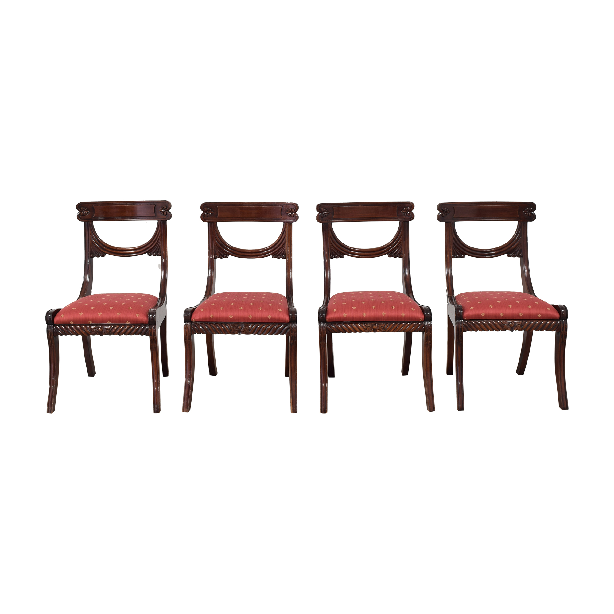 Rose Tarlow Rose Tarlow Upholstered Dining Chairs brown & red