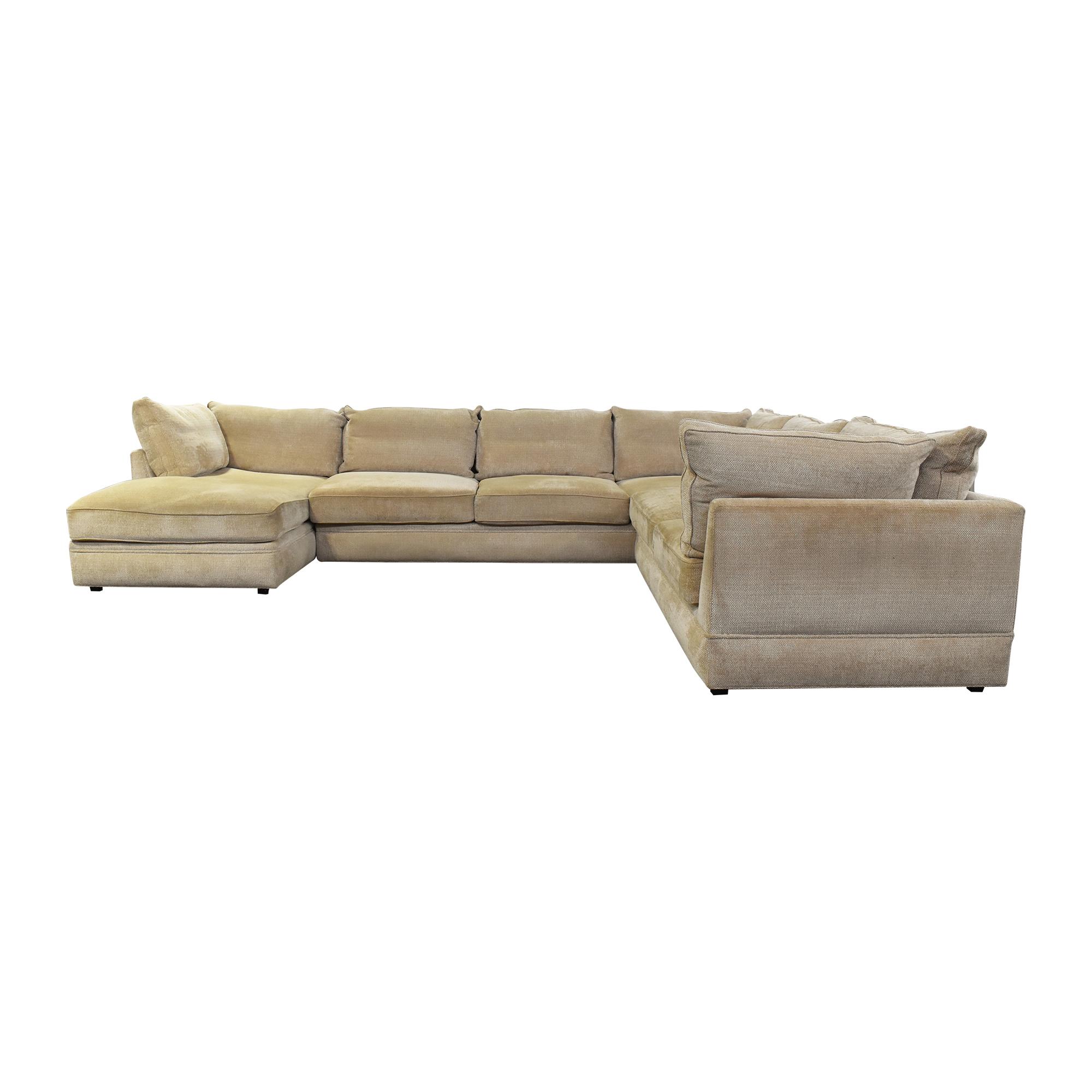 Swaim Swaim Three Piece Chaise Sectional Sofa tan