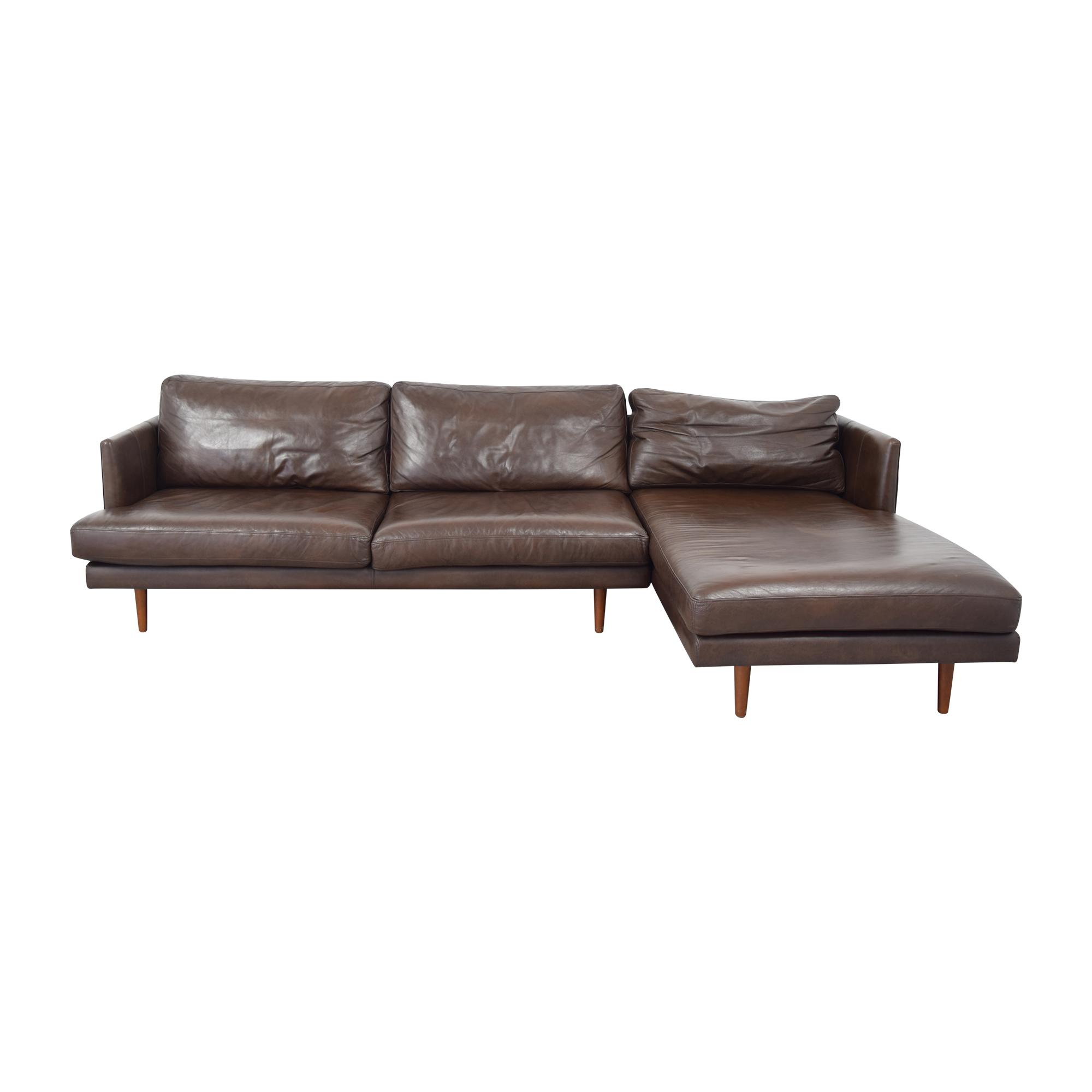 shop Article Burrard Chaise Sectional Sofa Article Sofas