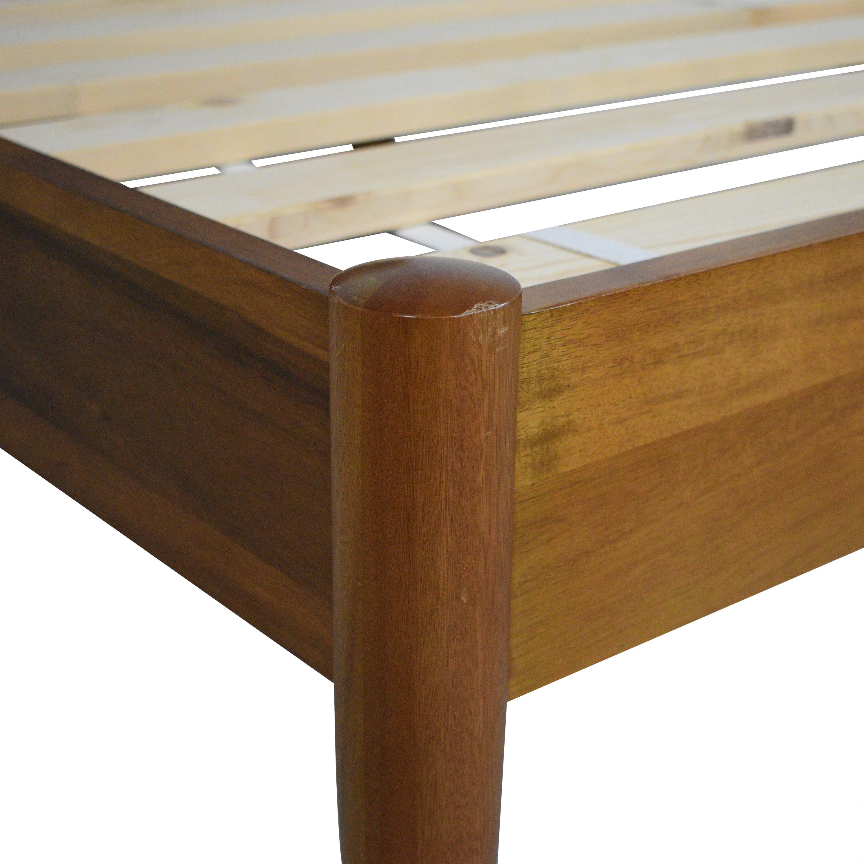 West Elm West Elm Mid-Century Button Tufted Queen Bed dimensions