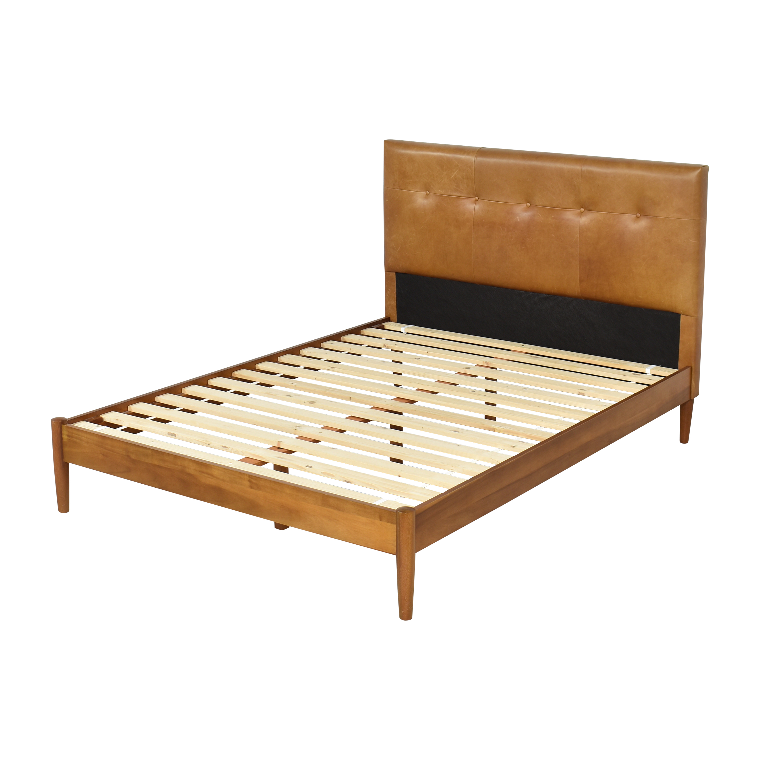 buy West Elm Mid-Century Button Tufted Queen Bed West Elm Bed Frames