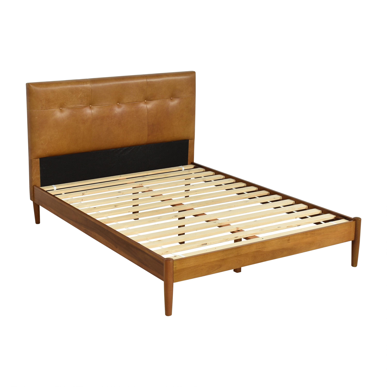 West Elm West Elm Mid-Century Button Tufted Queen Bed for sale