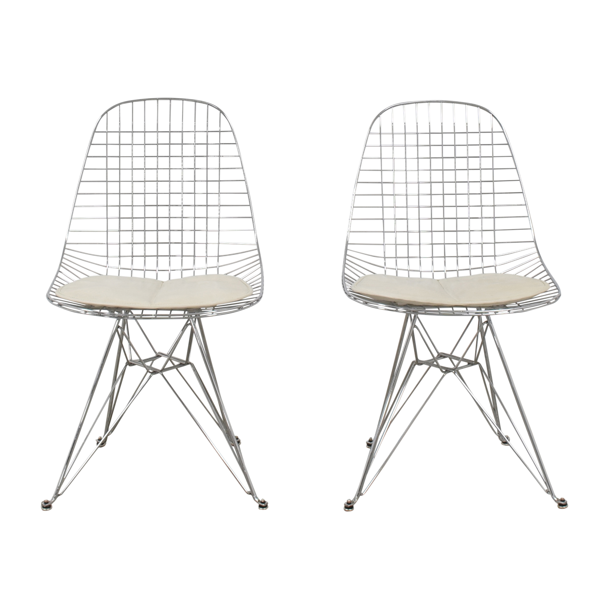 Modernica Modernica Case Study Wire Eiffel Chairs with Seat Pads nj