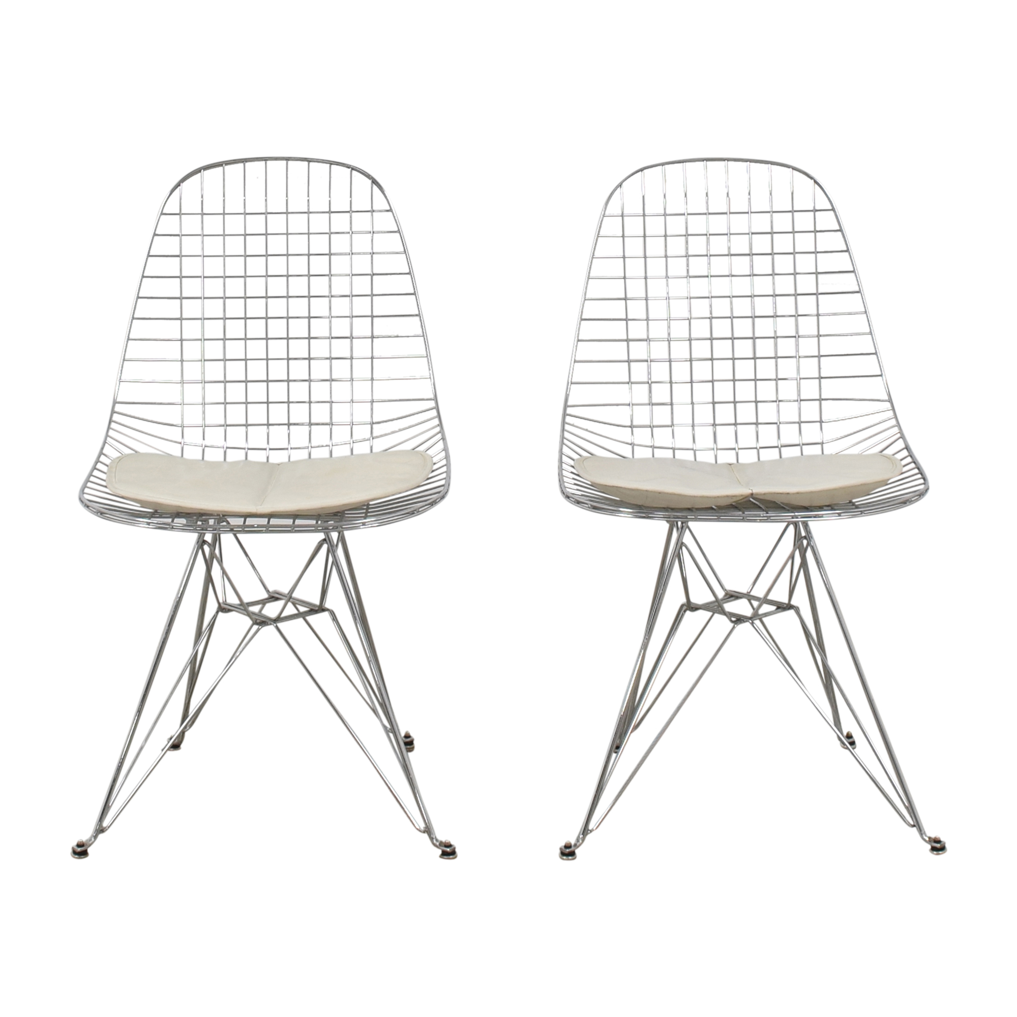 shop Modernica Case Study Wire Eiffel Chairs with Seat Pads Modernica Dining Chairs