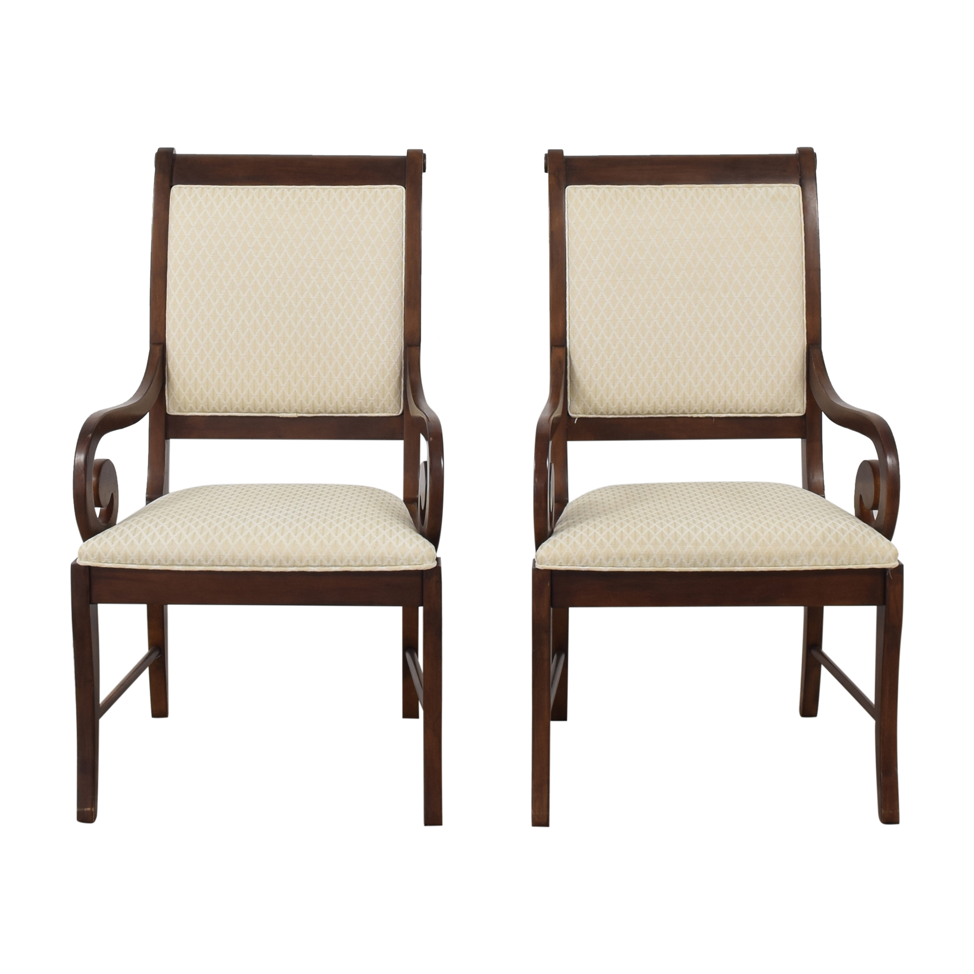 Broyhill Furniture Broyhill Scroll Arm Dining Chairs discount