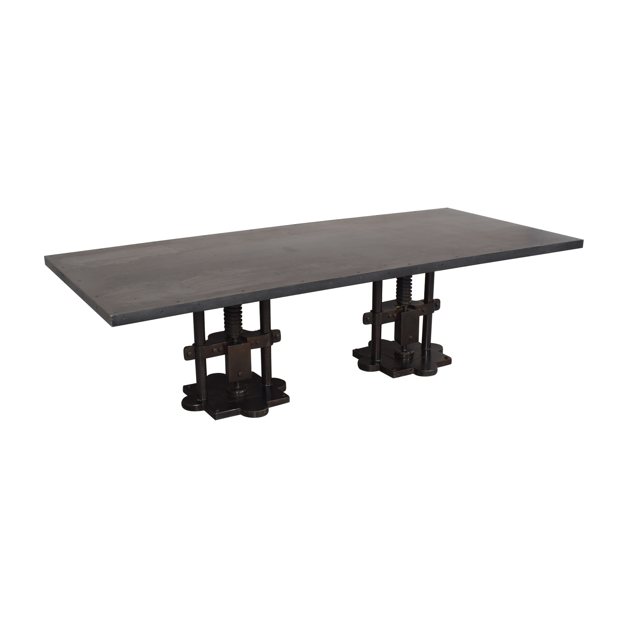 Industrial Two Pedestal Dining Table pa