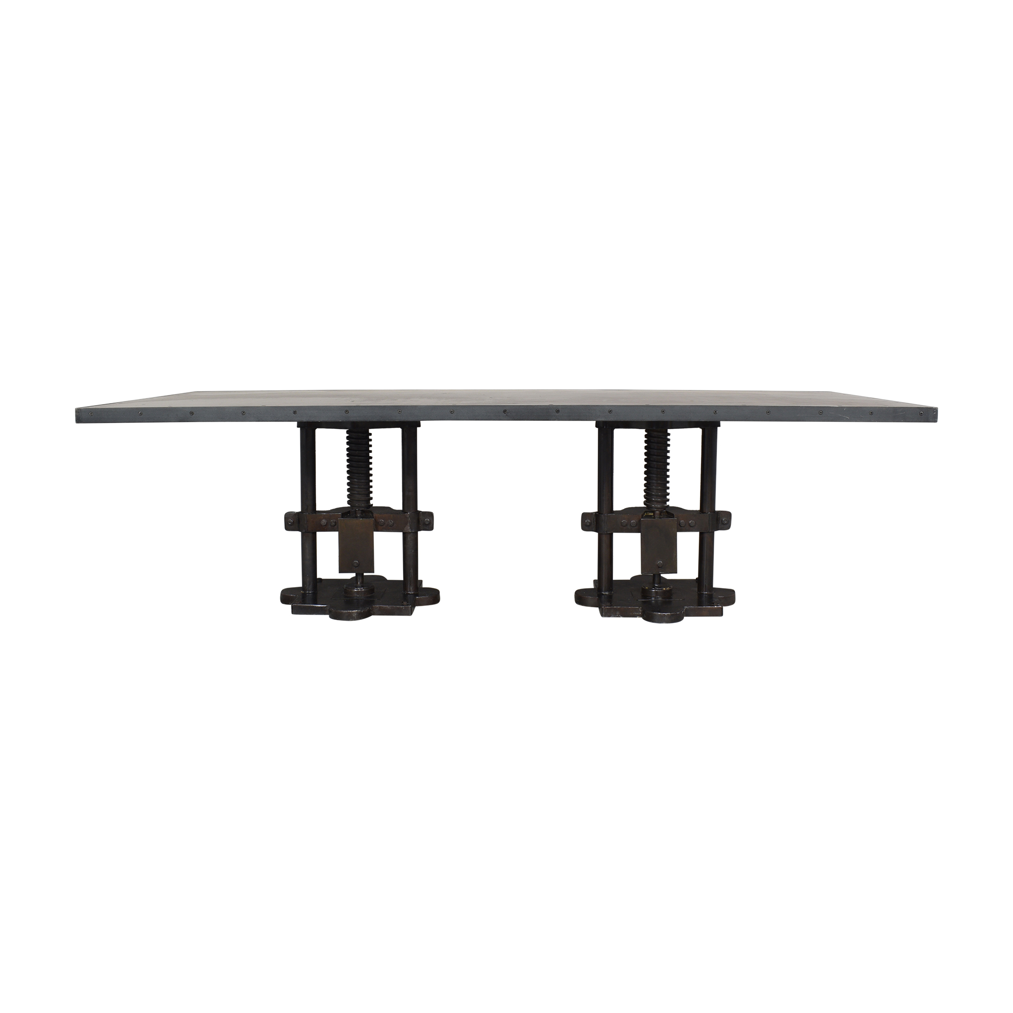 Industrial Two Pedestal Dining Table for sale
