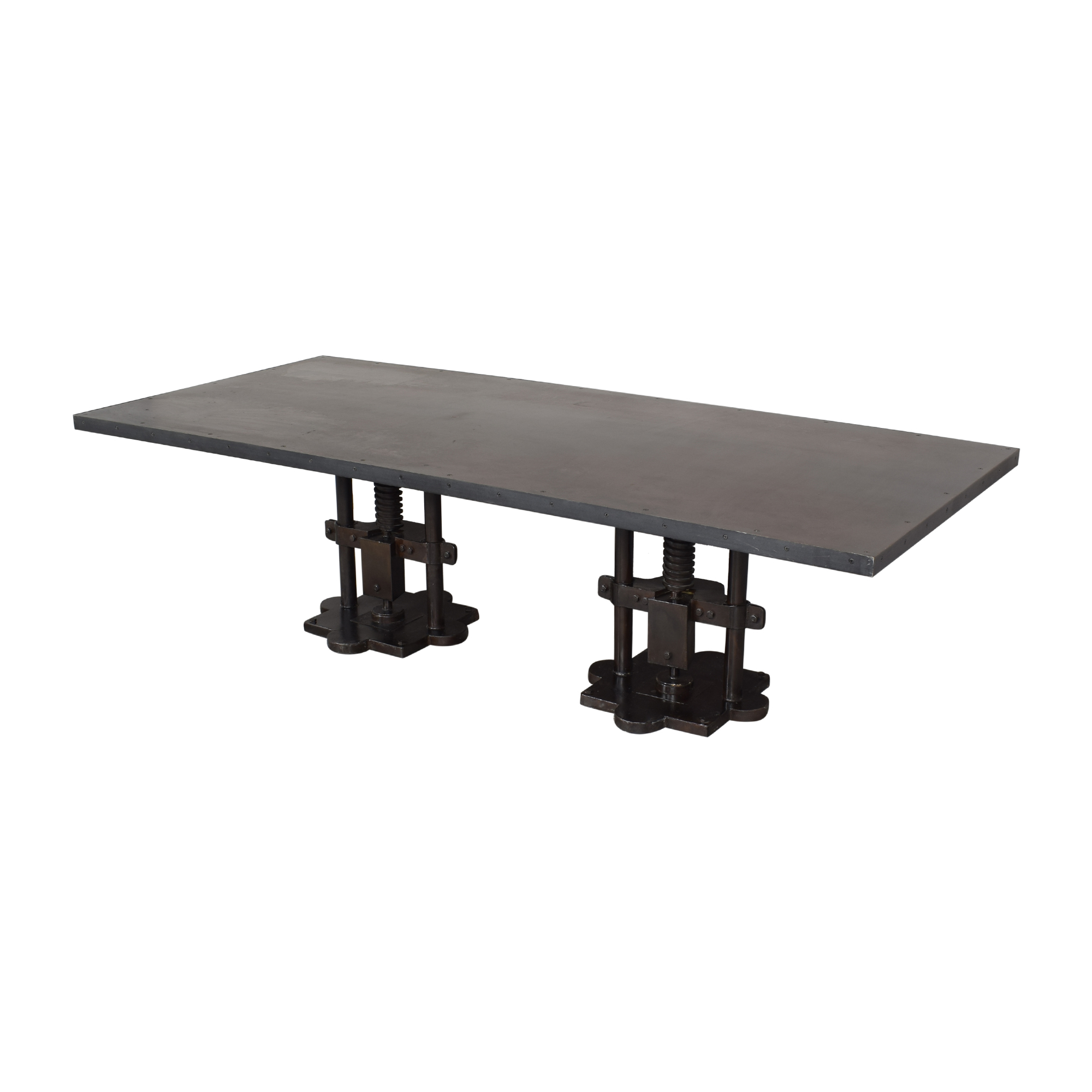 Industrial Two Pedestal Dining Table ct
