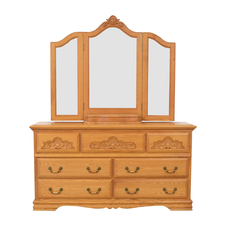 buy Bebe Furniture Dresser with Triptych Mirror BeBe Furniture Storage