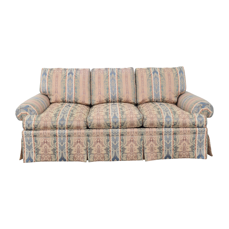 shop Henredon Furniture Three Cushion Roll Arm Sofa Henredon Furniture Classic Sofas