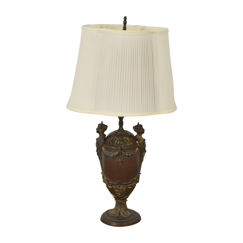 Vintage Carved Lamp for sale