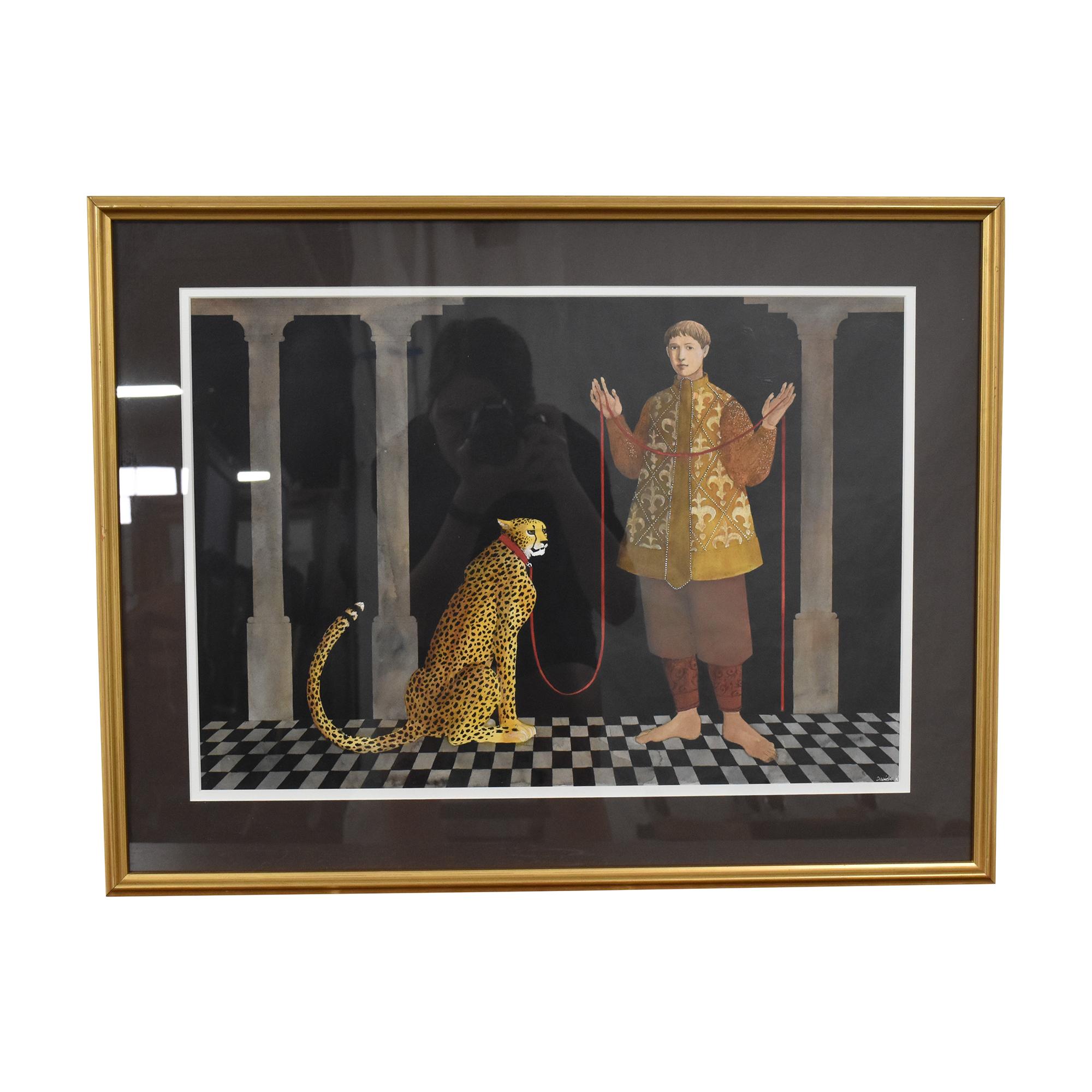 Cheetah Framed Wall Art Decor