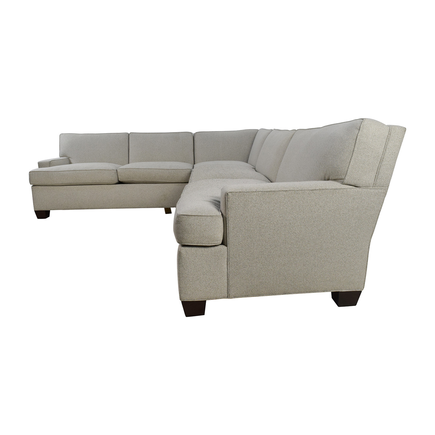 Gentil ... Hickory Chair Foster L Shaped Beige Sectional Sale ...