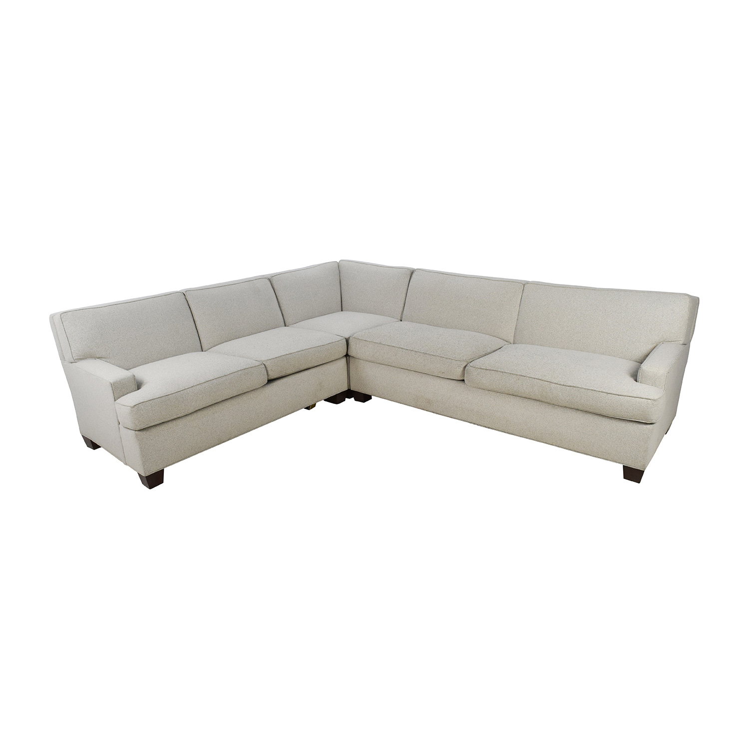 shop Hickory Chair Foster L-Shaped Beige Sectional Hickory Chair Sectionals