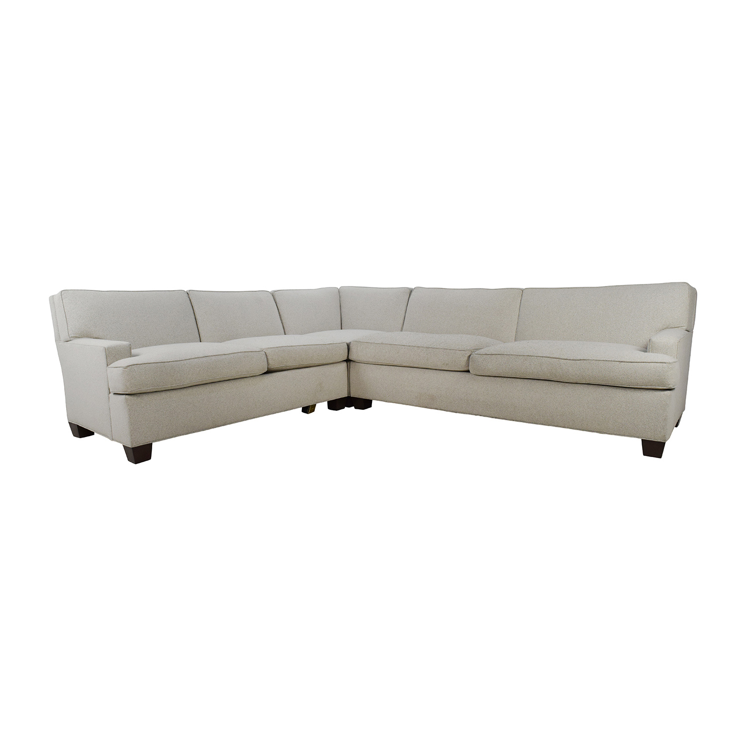 Hickory Chair Hickory Chair Foster L-Shaped Beige Sectional Sectionals