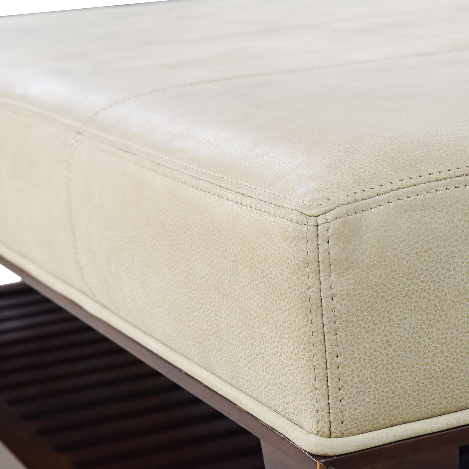 Baker Baker Walnut and Suede Ottoman dimensions