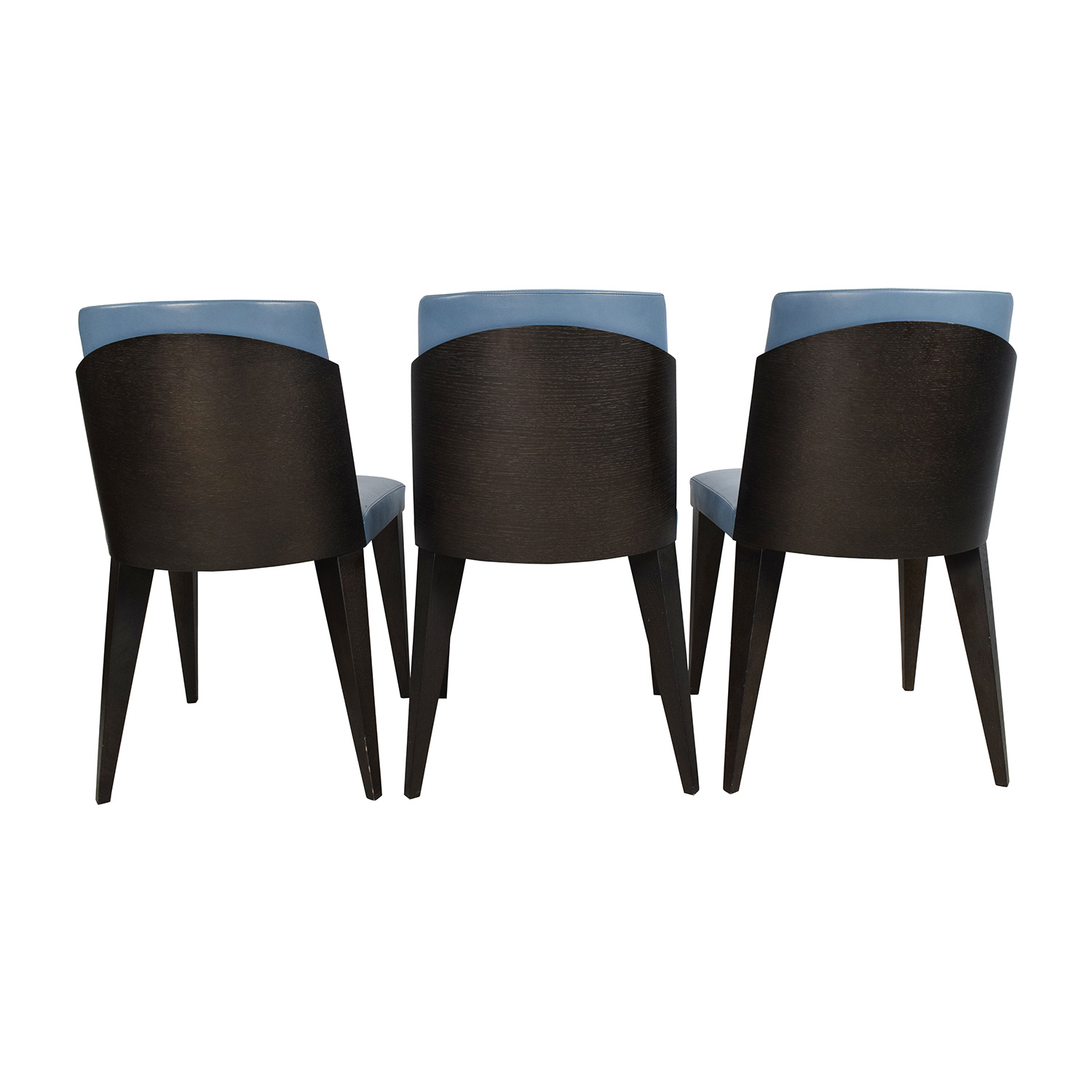 90 off potocco potocco blue leather dining chairs chairs for Furniture 90 off
