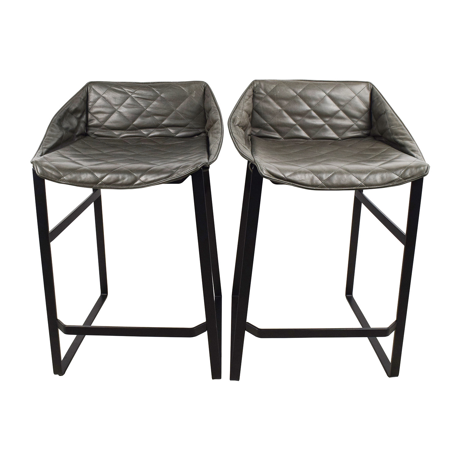 buy Klaas Klaas Leather Kitchen Stool Set online