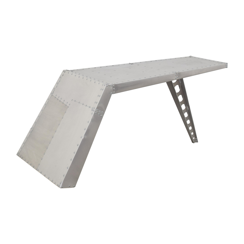 buy Ramona Metal Aviator Airfoil Desk Romona Metal Home Office Desks