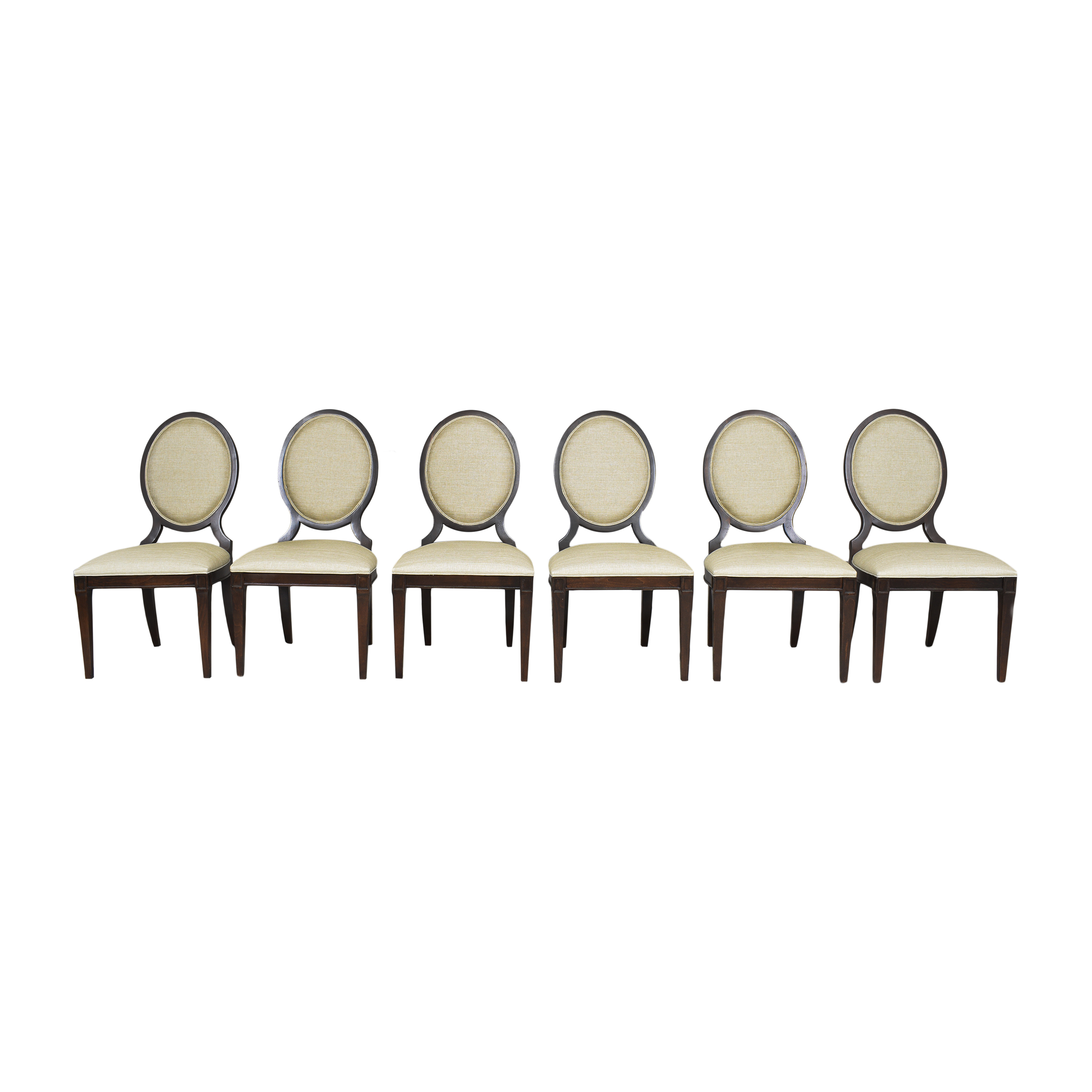Ethan Allen Ethan Allen Lindsay Side Dining Chairs tan & brown