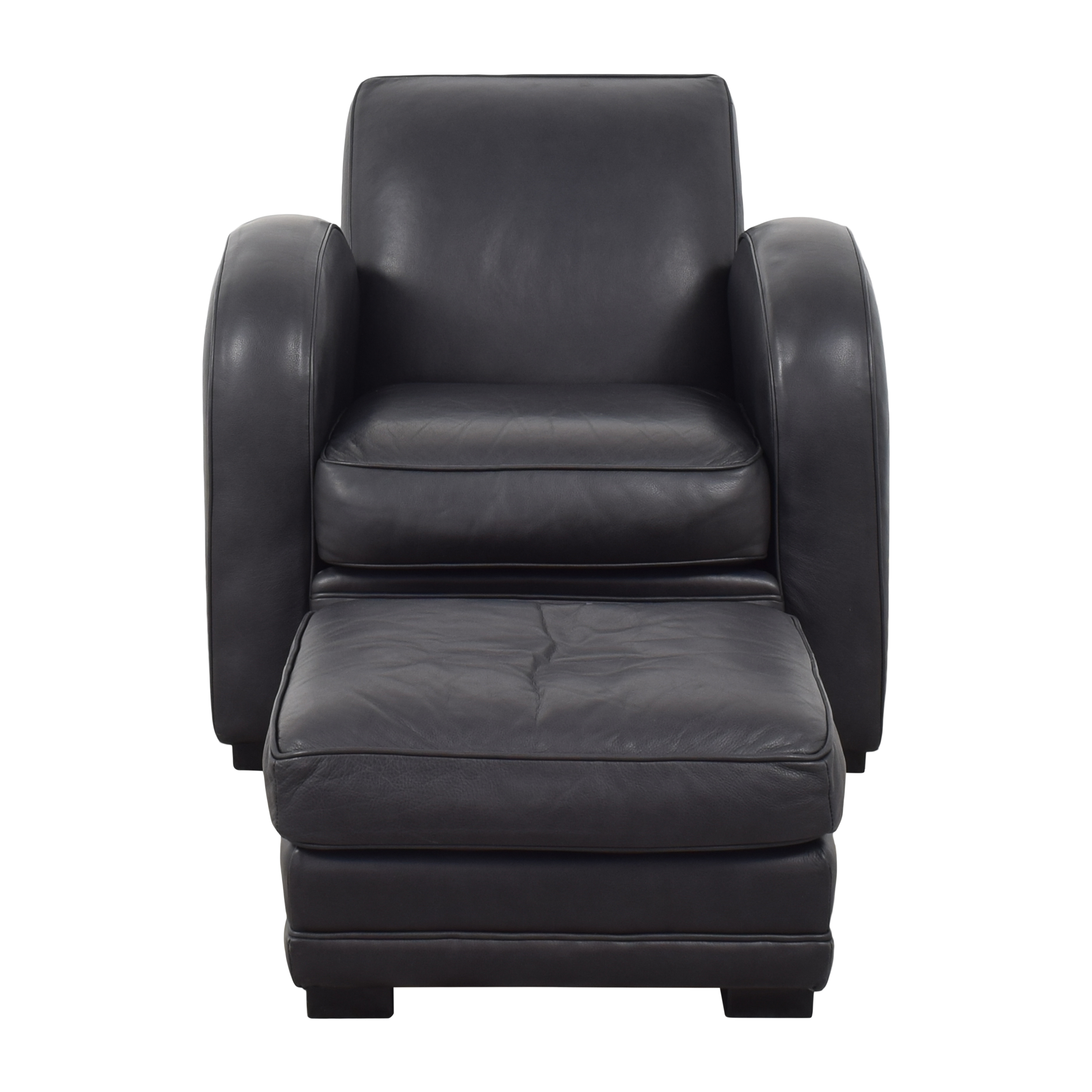 Room & Board Roadster Chair with Ottoman / Accent Chairs