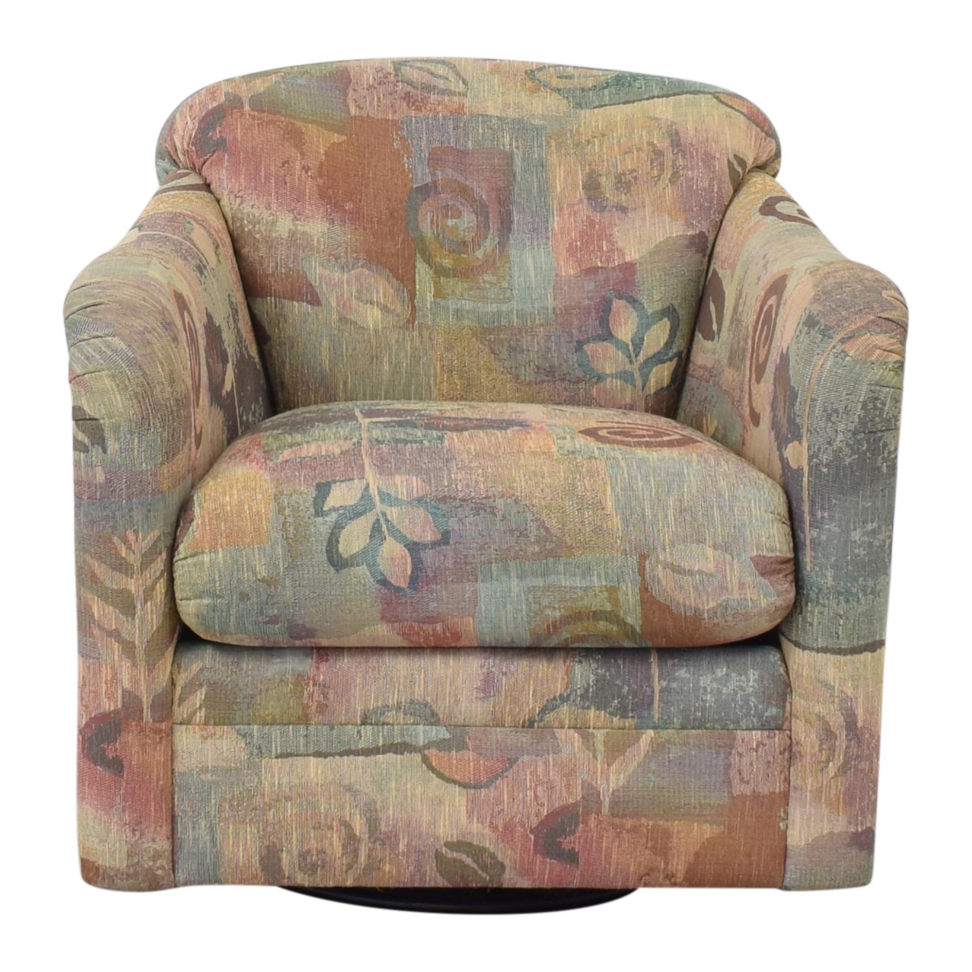 Precedent Furniture Precedent Furniture Patterned Swivel Chair pa
