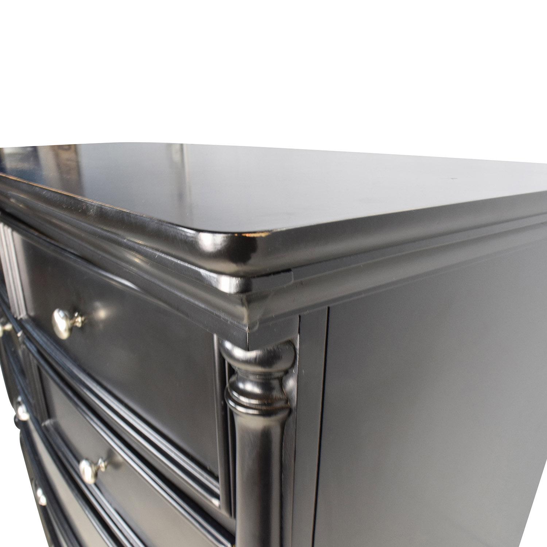 Tall Black Dresser with Silver Hardware Furniture.com