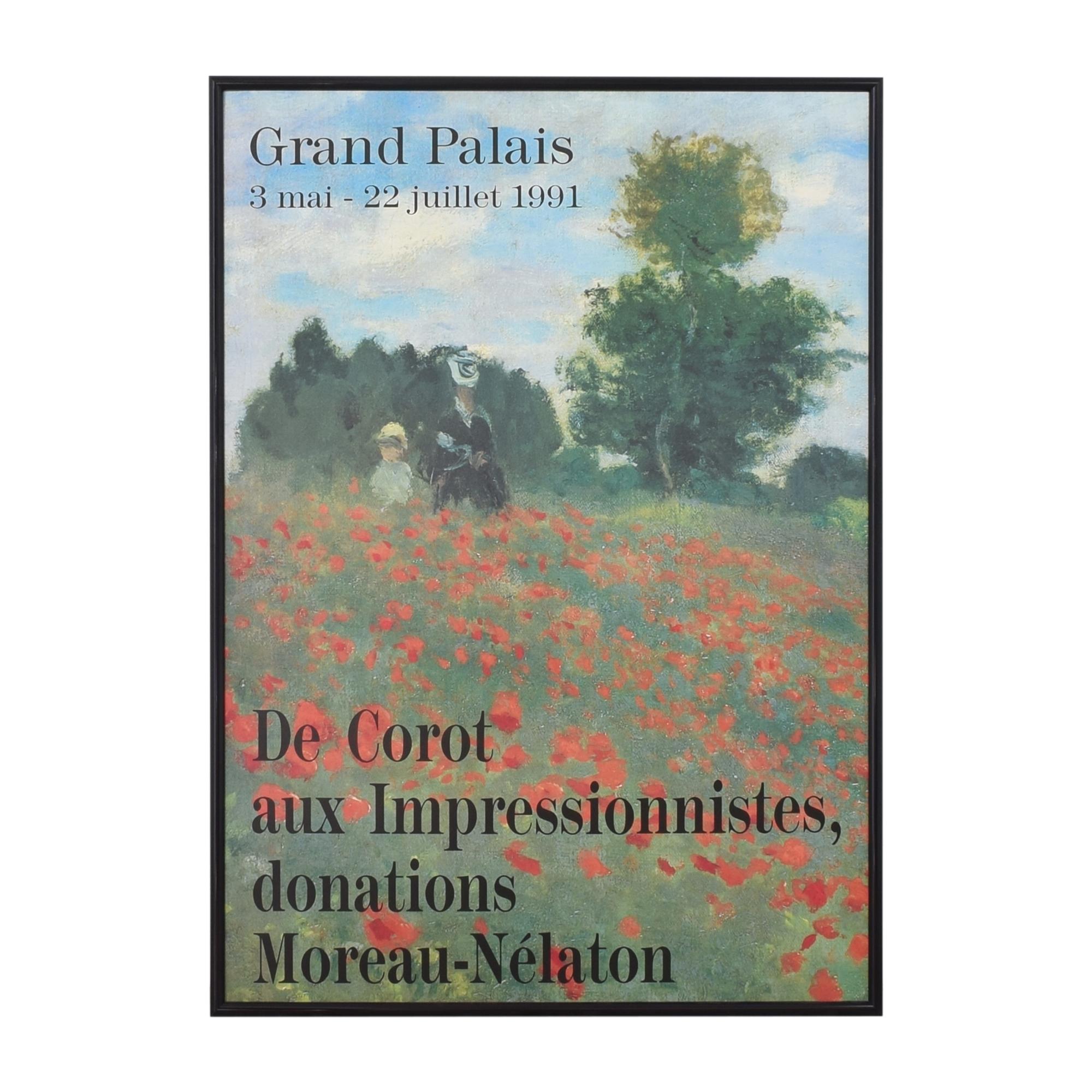 Grand Palais Impressionist Art Exhibit Poster price