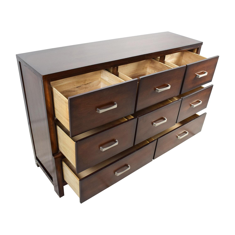 67 Off Solid Wood 8 Drawer Dresser Storage