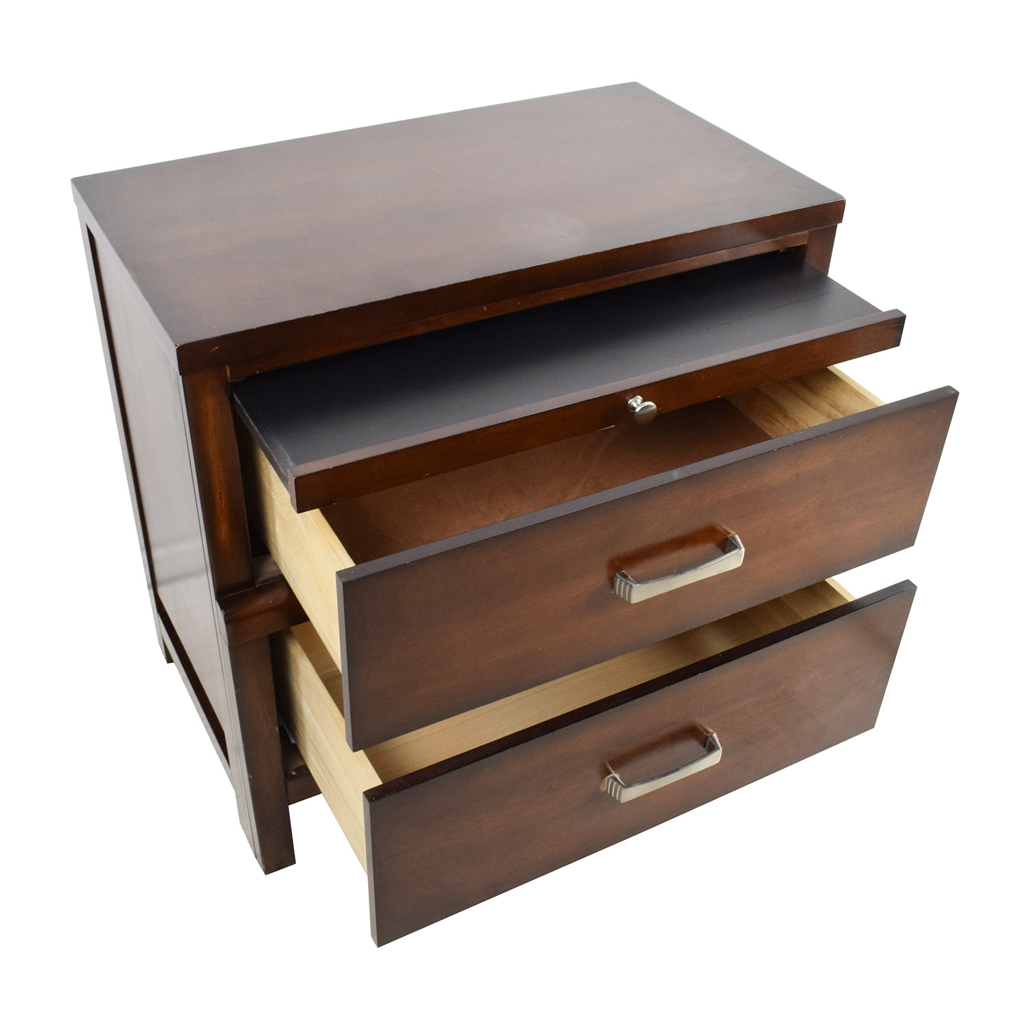 87 Off Wood 2 Drawer Night Stand Tables