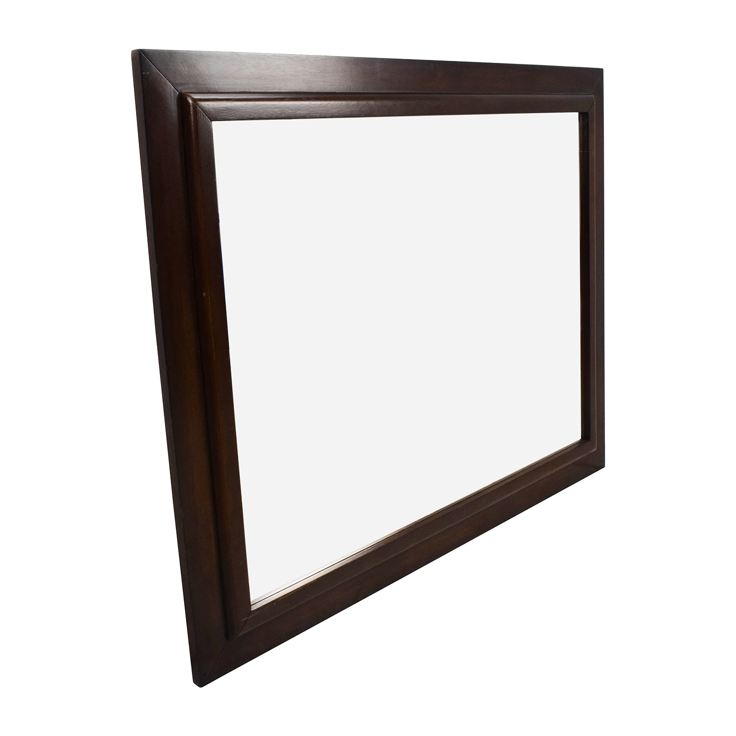 80 off large square wood framed wall mirror decor for Tall framed mirror