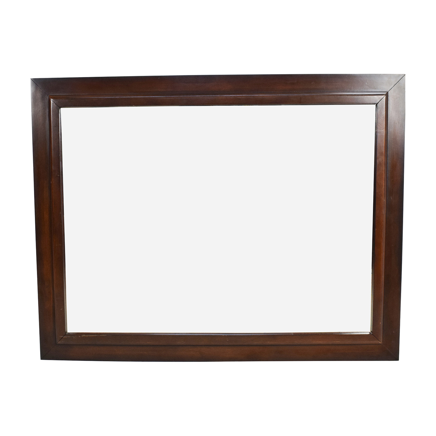 80 off large square wood framed wall mirror decor for Large wall mirror wood frame