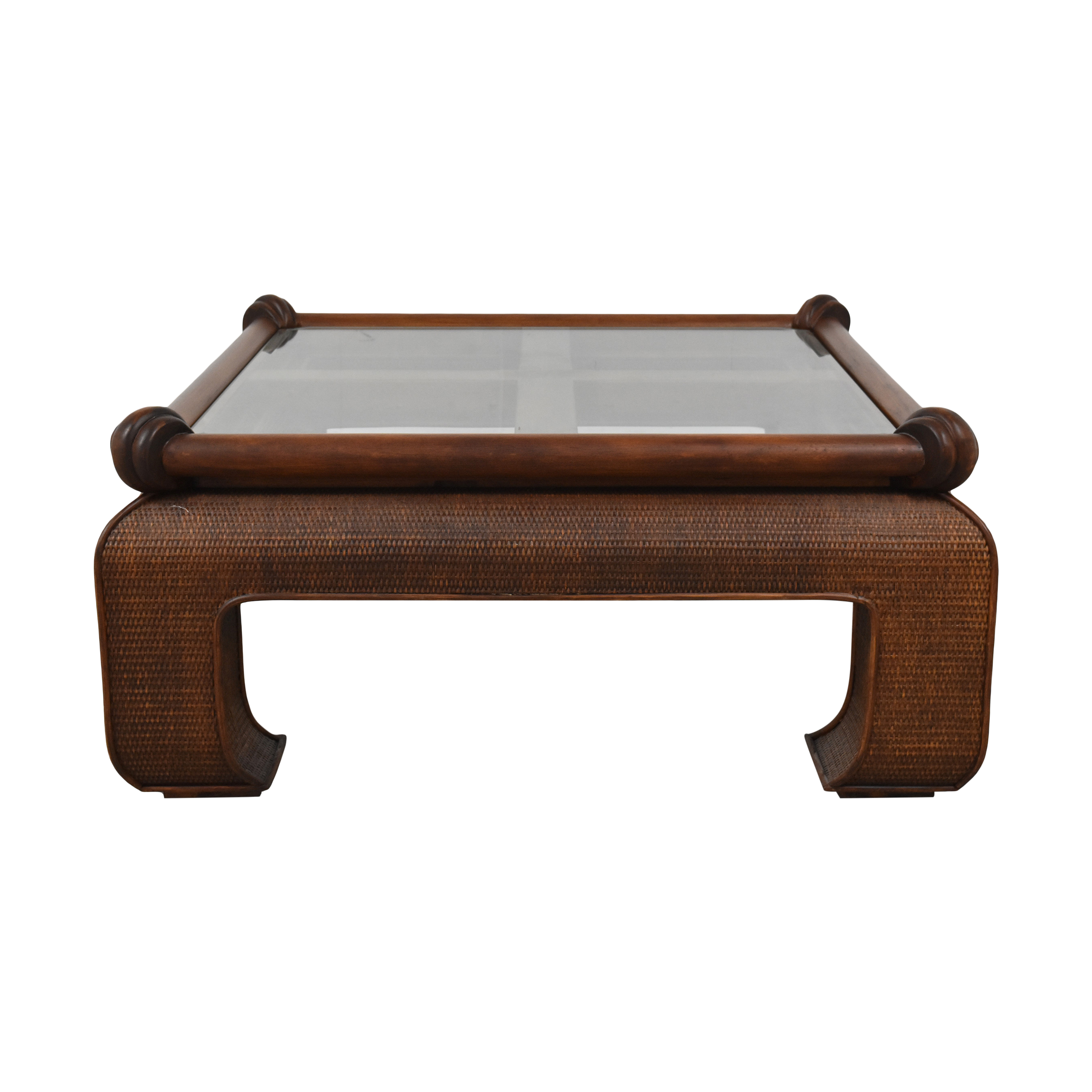 buy Ficks Reed Square Coffee Table Ficks Reed Tables