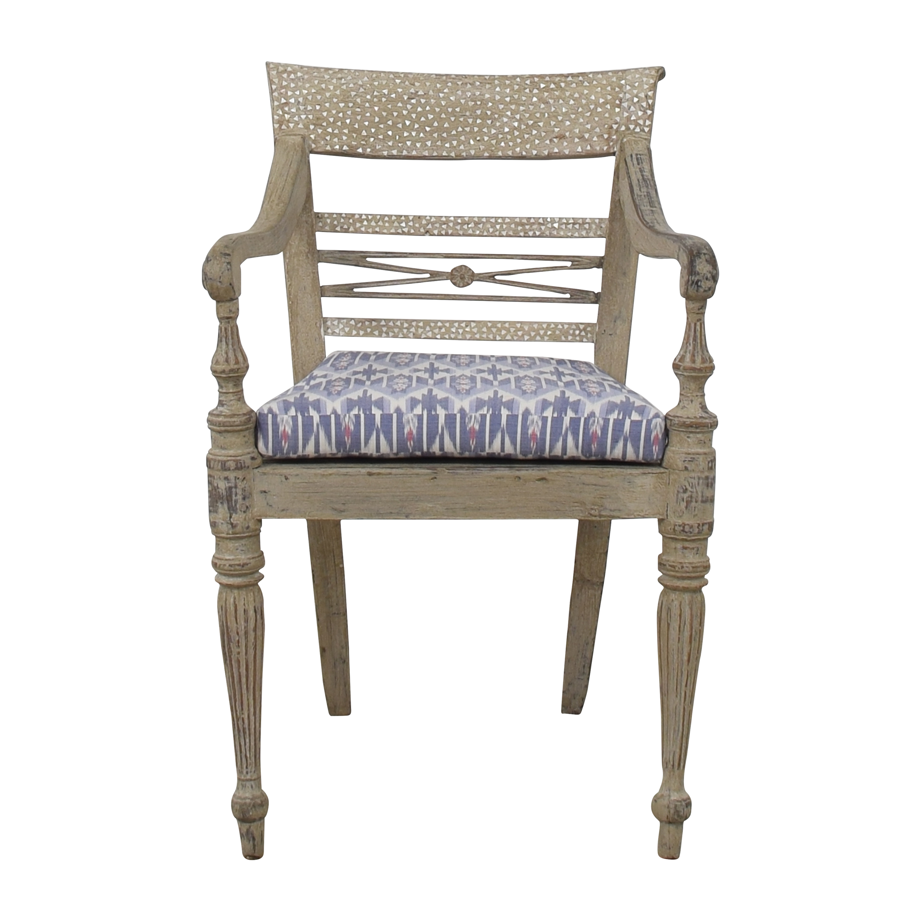 Distressed Accent Arm Chair for sale